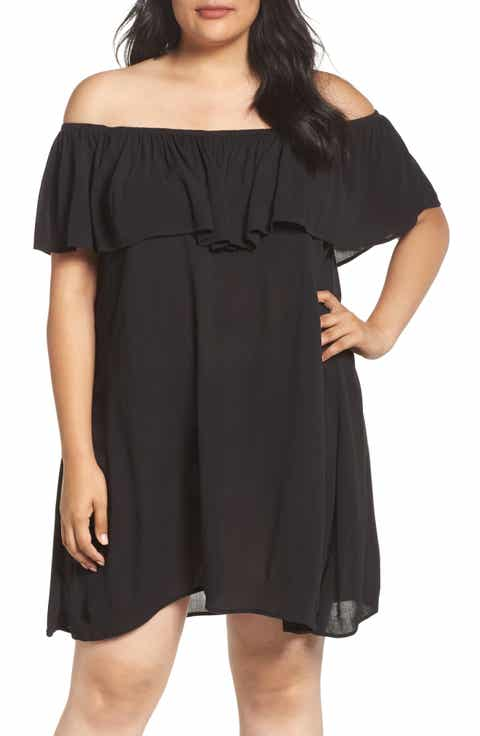 Becca Etc. Southern Belle Off the Shoulder Cover-Up Dress (Plus Size)