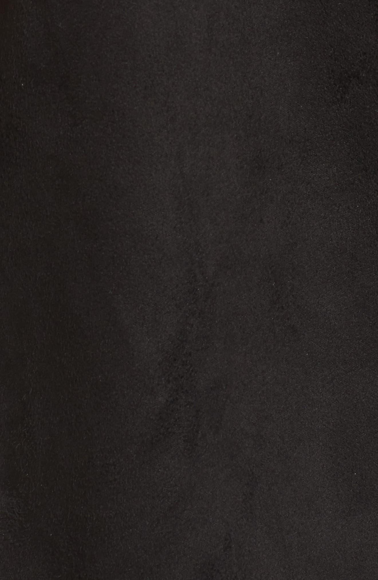Avalonia Faux Shearling Vest,                             Alternate thumbnail 5, color,                             Black