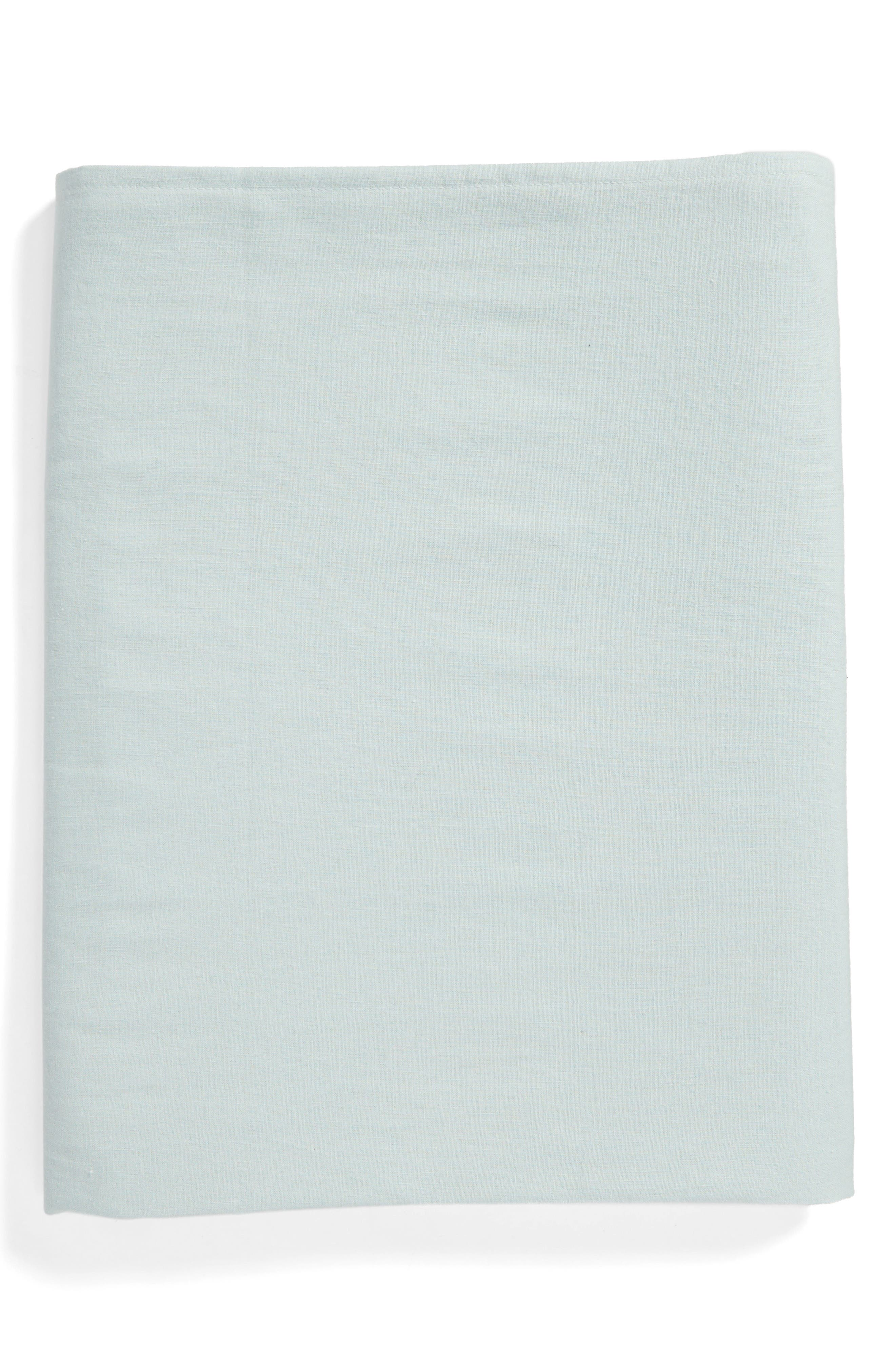 Washed Linen Tablecloth,                         Main,                         color, Spa Green