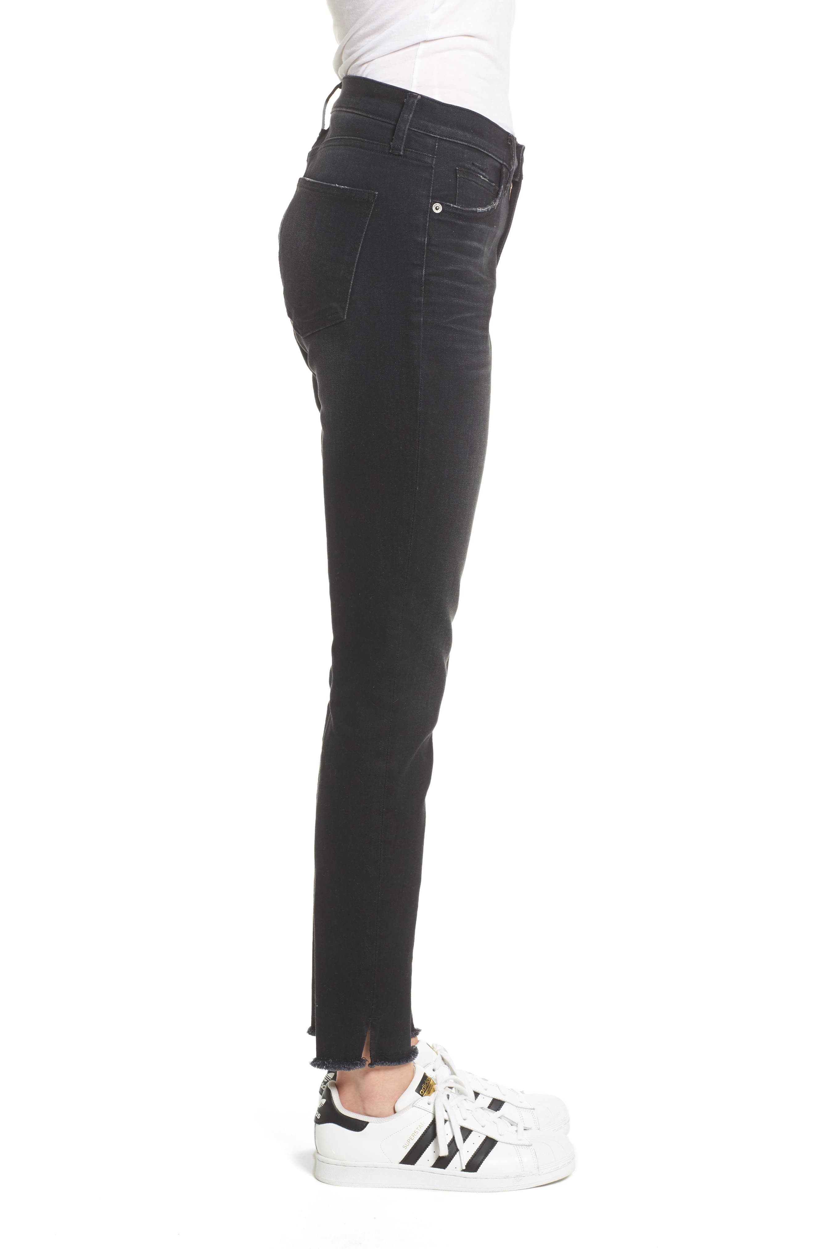 The Stiletto High Waist Ankle Skinny Jeans,                             Alternate thumbnail 3, color,                             Yuma Clean