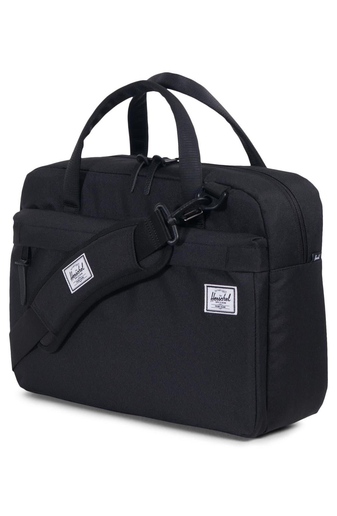 Gibson Messenger Bag,                             Alternate thumbnail 3, color,                             Black