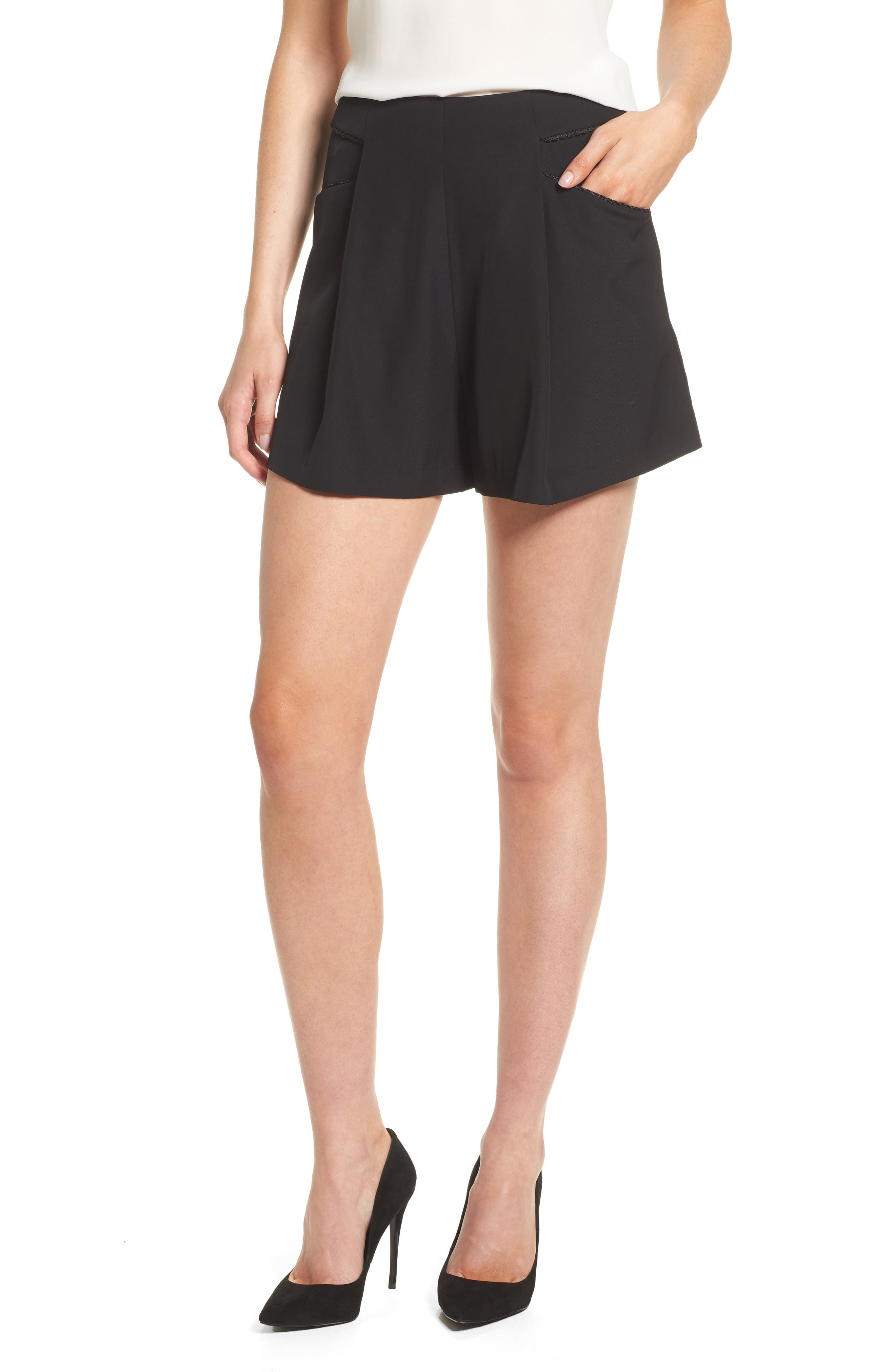 Ceremony High Waist Shorts,                         Main,                         color, Black
