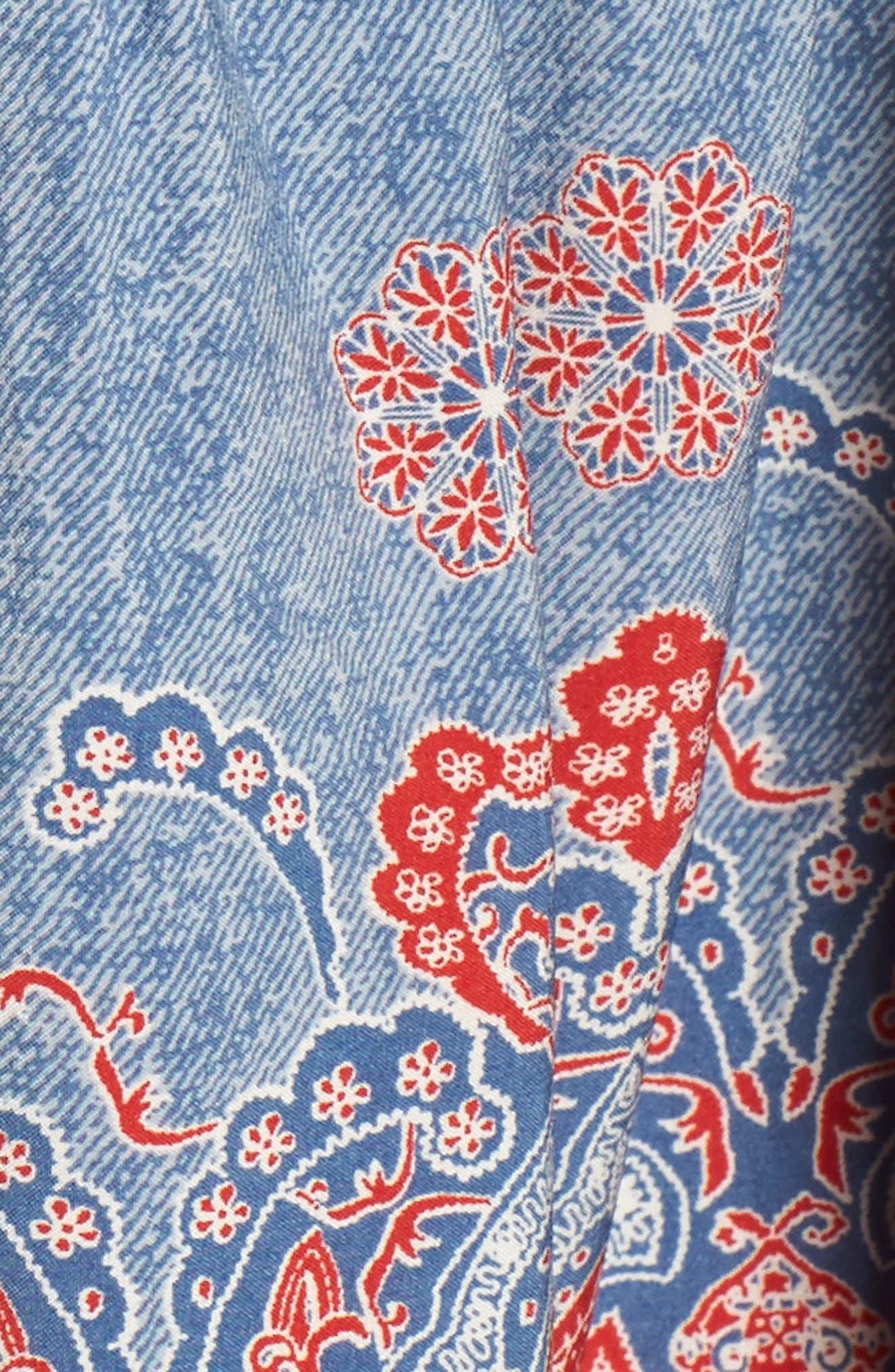 Tatiana Minidress,                             Alternate thumbnail 5, color,                             Blue/ Red Multi
