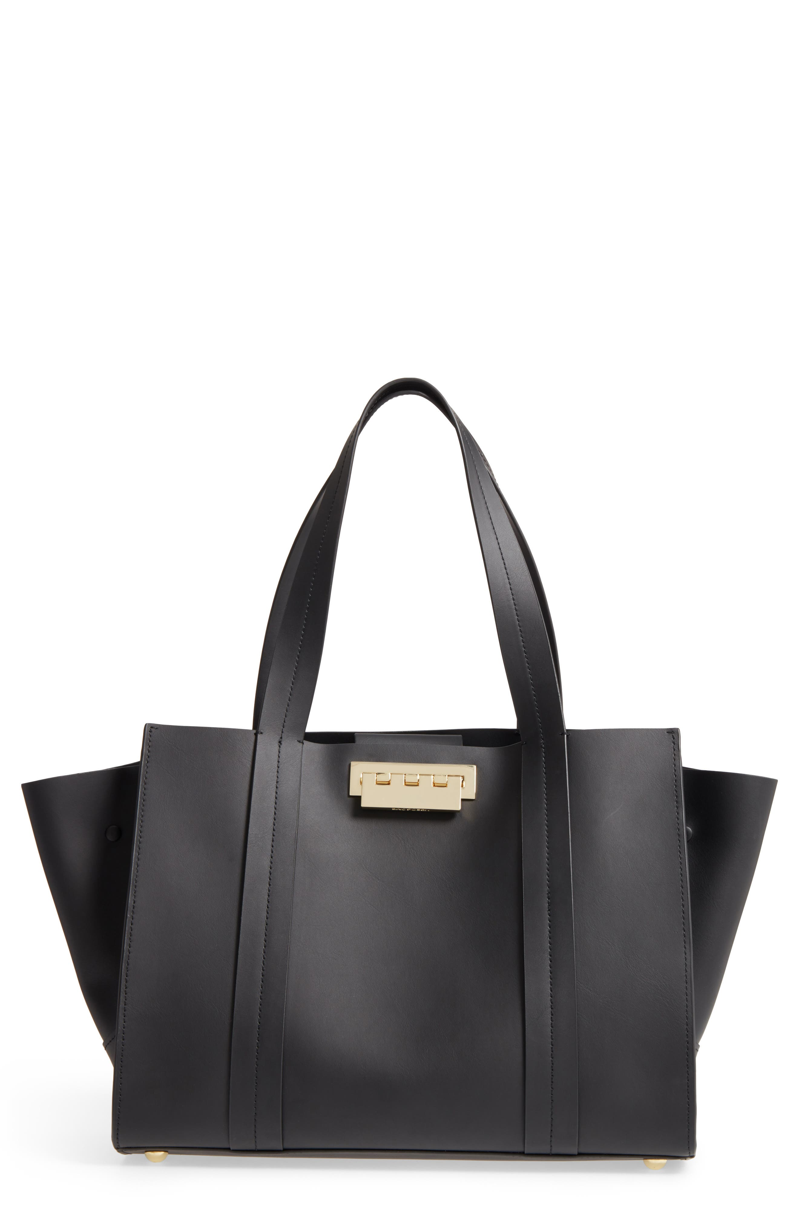 ZAC Zac Posen Large Eartha Iconic Calfskin Leather Satchel