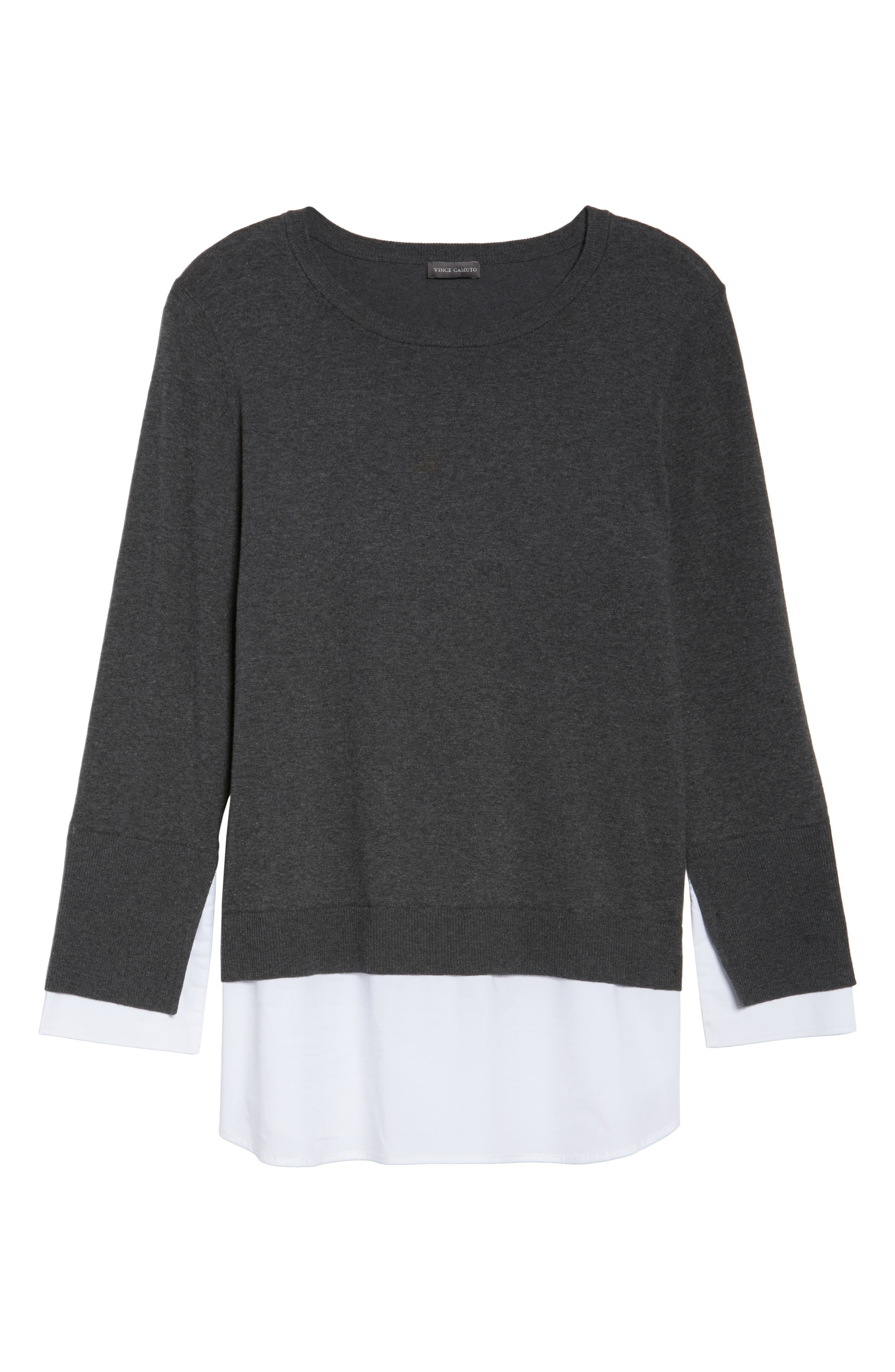 Alternate Image 6  - Vince Camuto Layered Look Sweater (Plus Size)