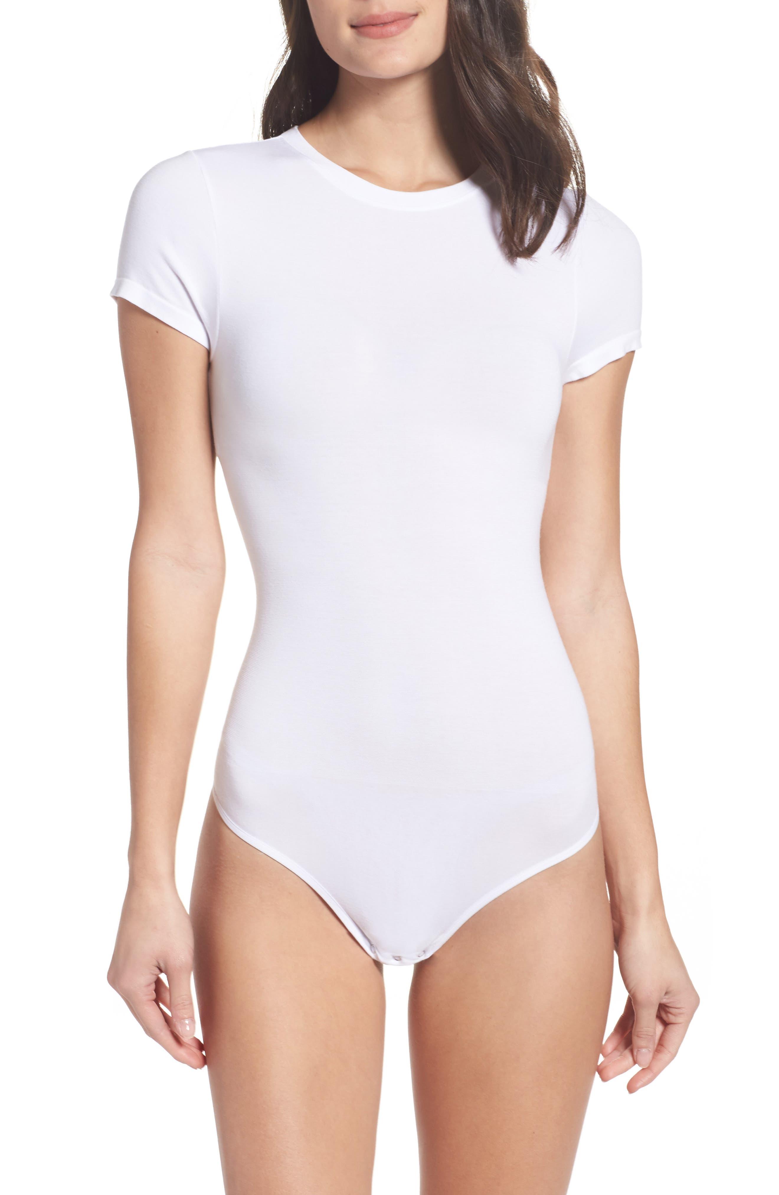 Thong Bodysuit,                             Main thumbnail 1, color,                             White