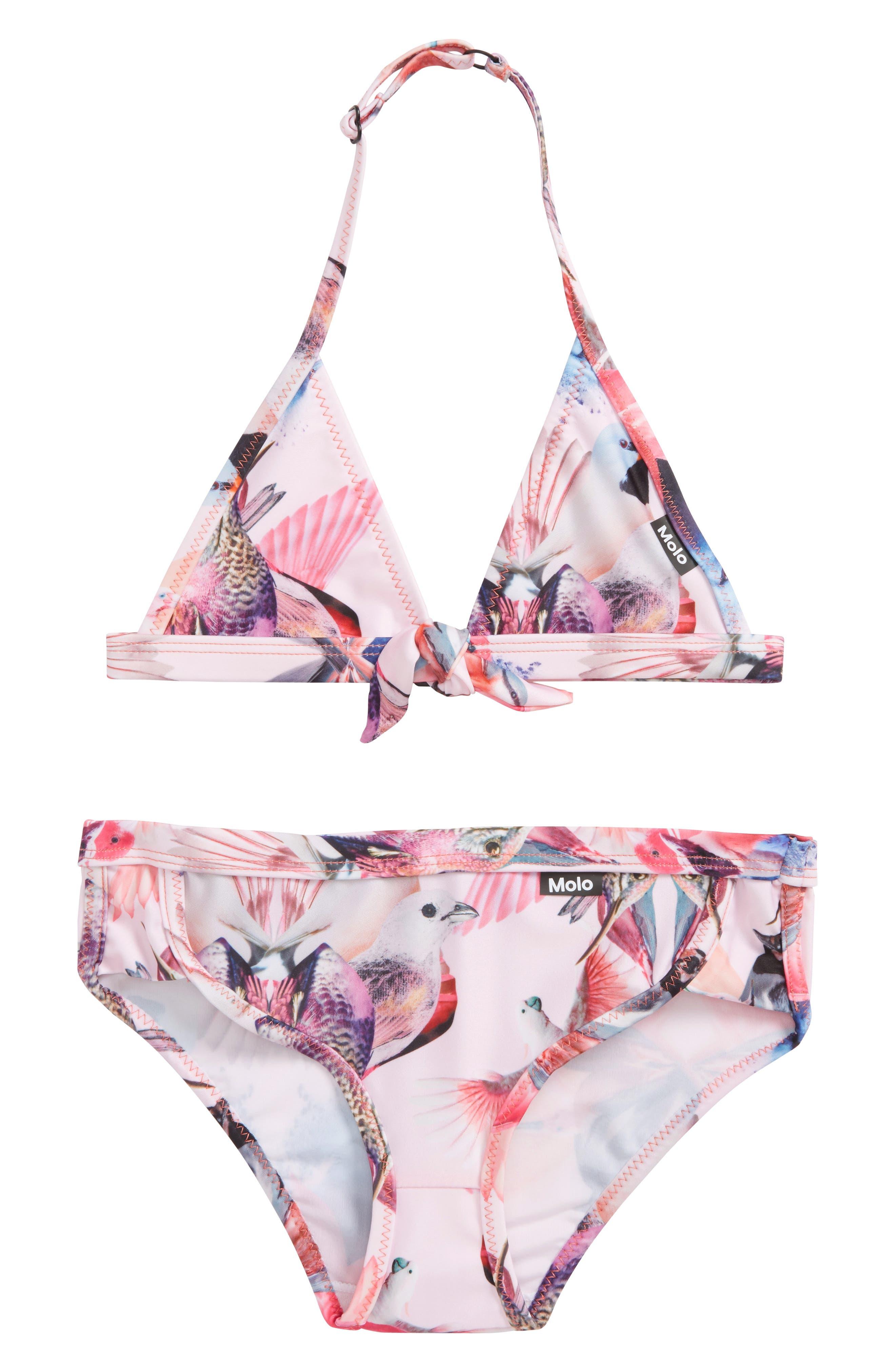 Nara Two-Piece Swimsuit,                         Main,                         color, Mirror Birds
