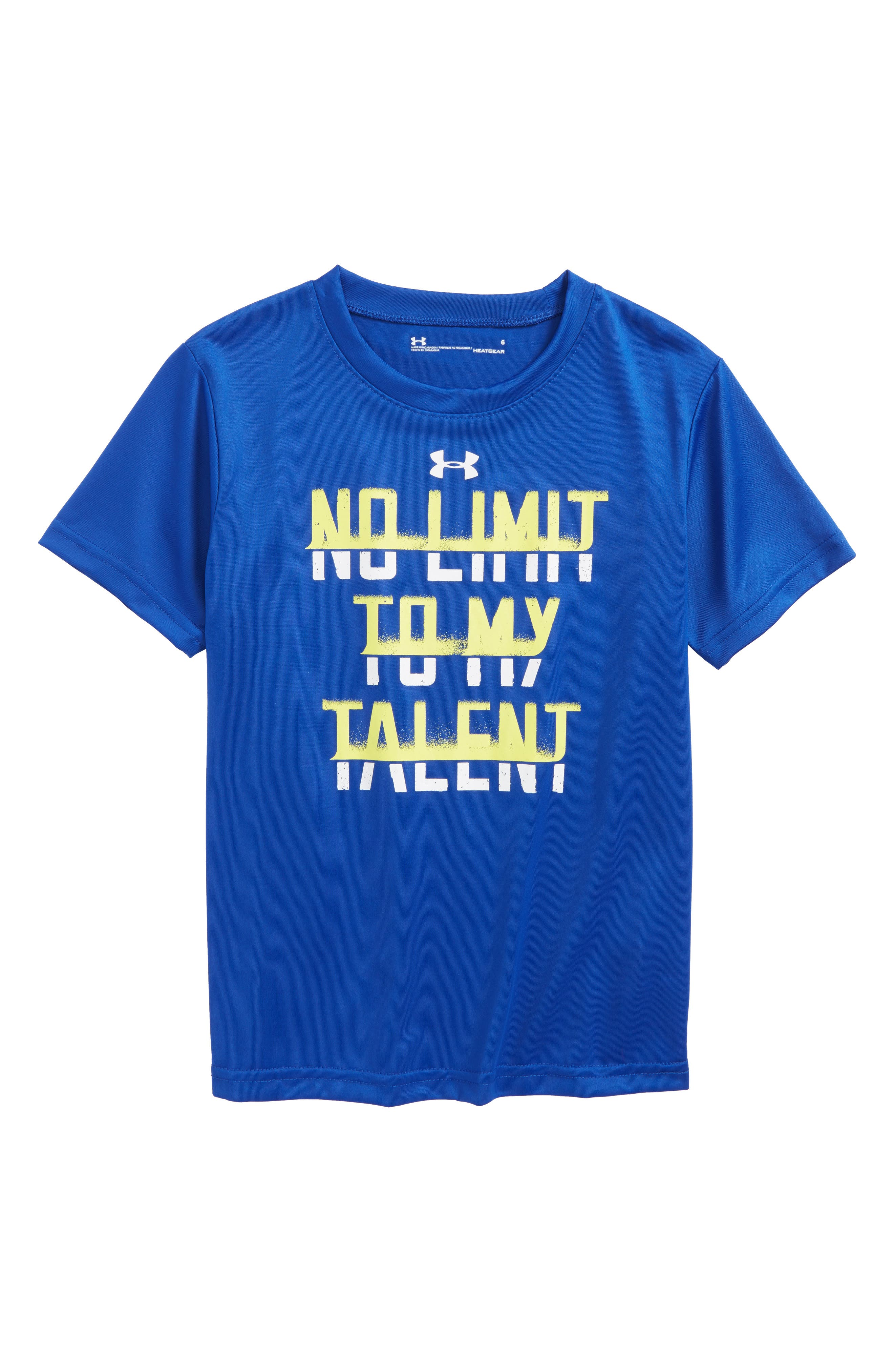 No Limit to My Talent HeatGear<sup>®</sup> Graphic T-Shirt,                         Main,                         color, Royal