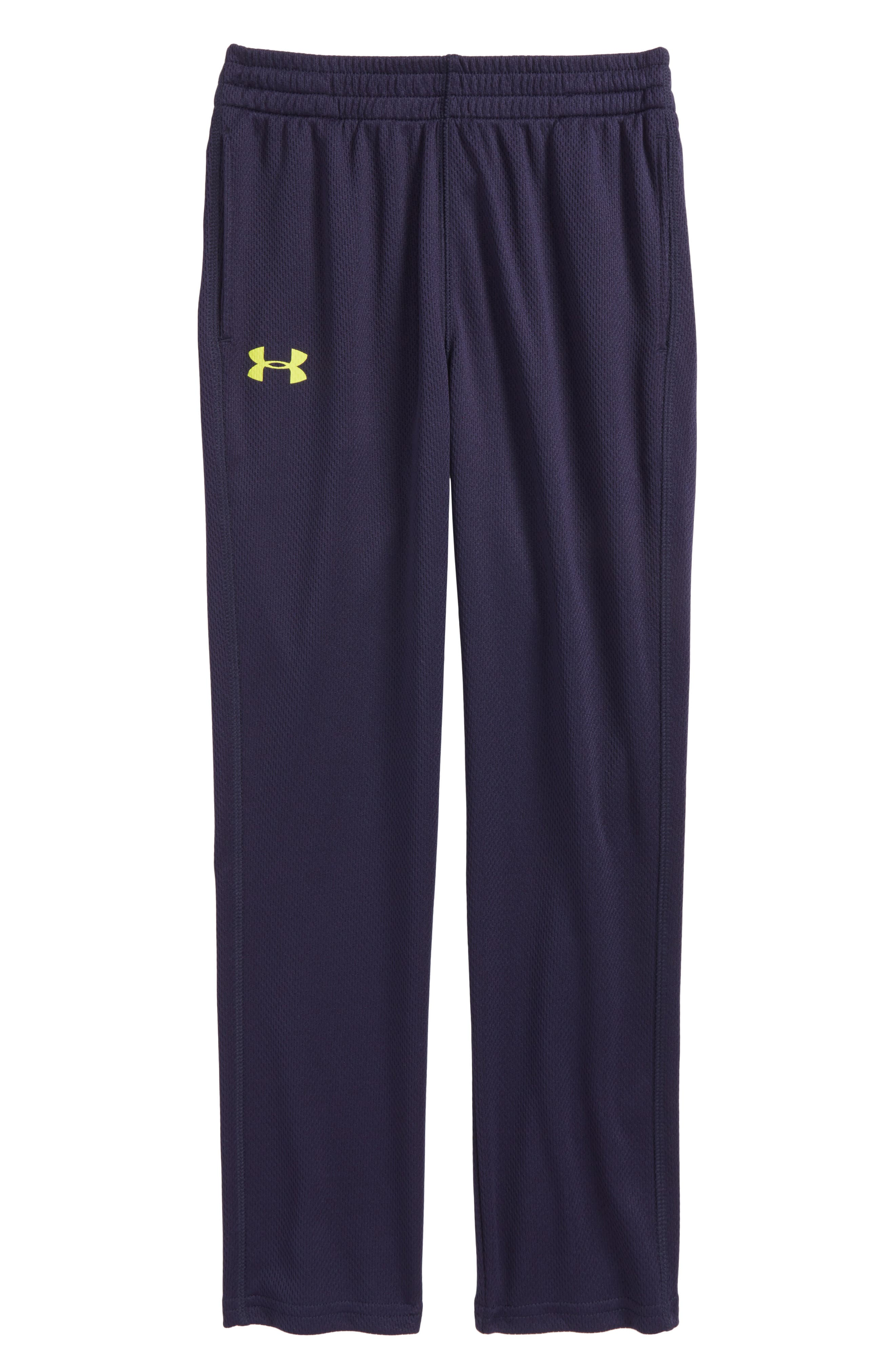 Mesh Pants,                             Main thumbnail 1, color,                             Midnight Navy/ Sulpher Yellow