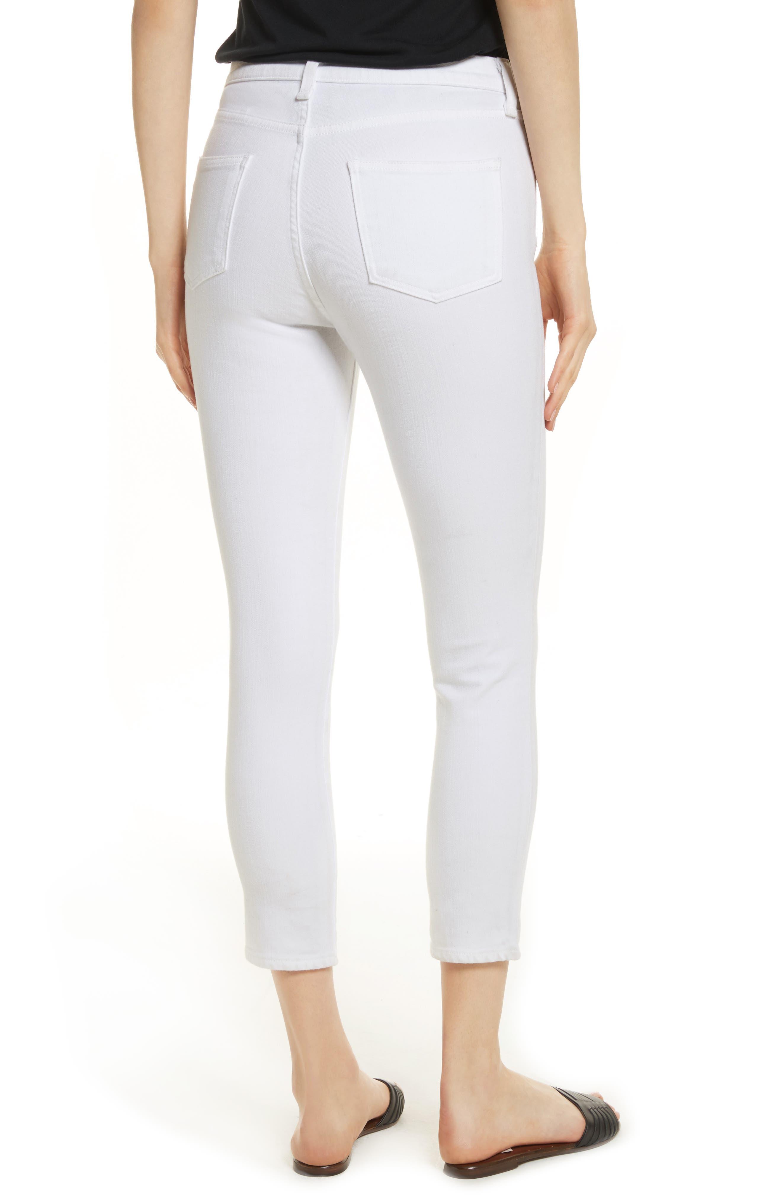 Kate Capri Jeans,                             Alternate thumbnail 2, color,                             White