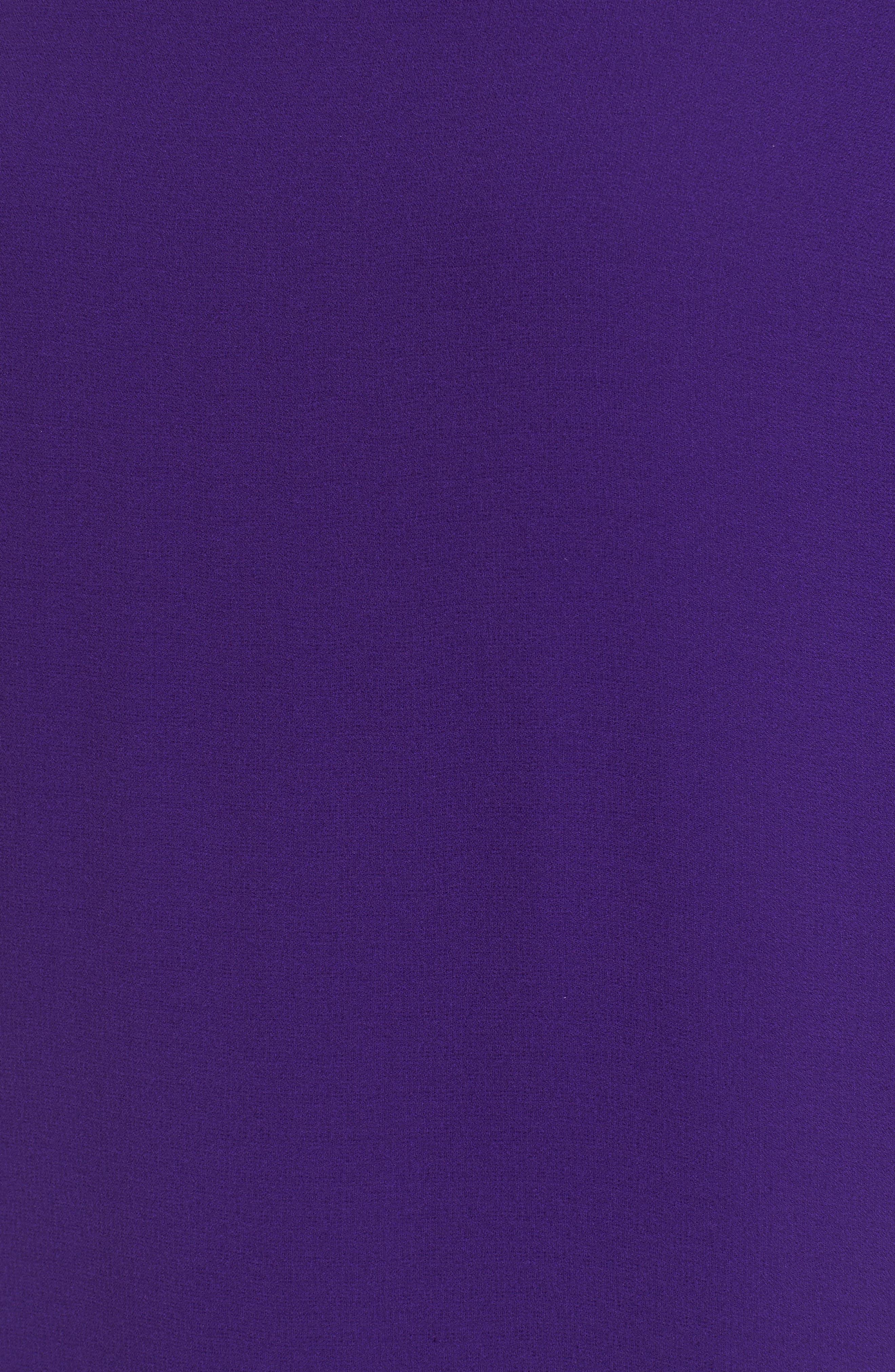 Silk Shift Dress,                             Alternate thumbnail 4, color,                             Ultraviolet