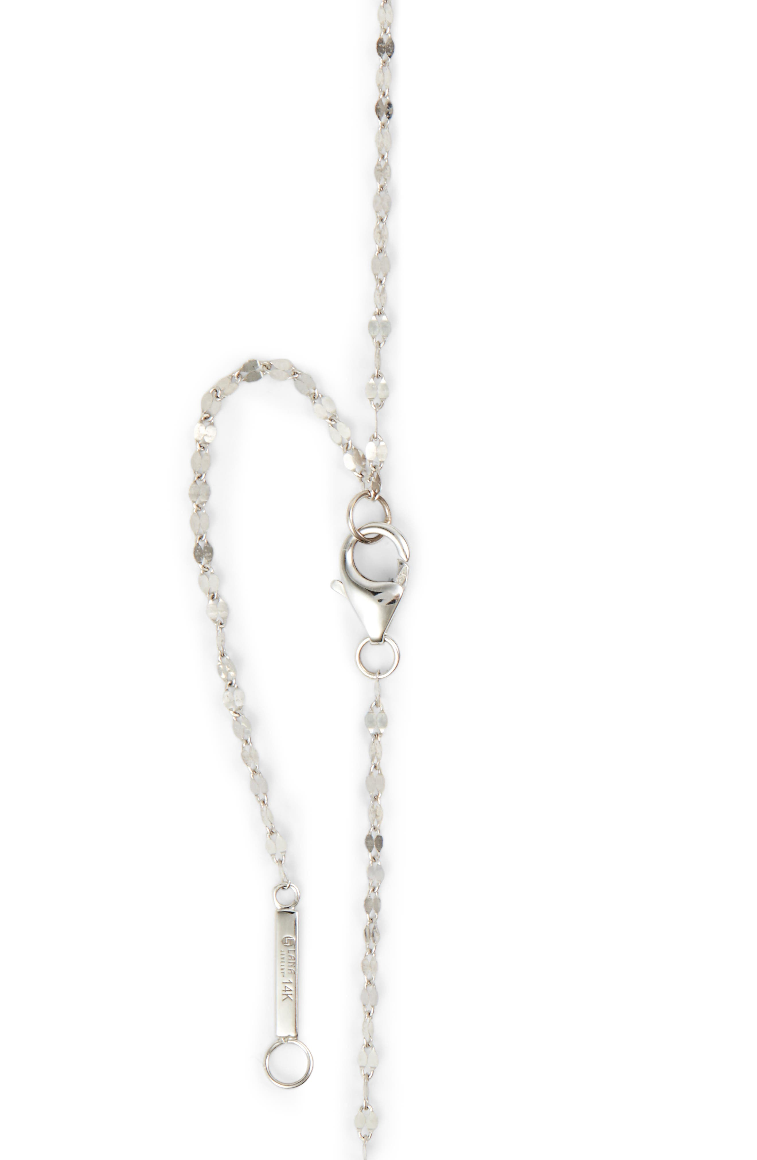 Nude Remix Bar Y-Necklace,                             Alternate thumbnail 5, color,                             White Gold