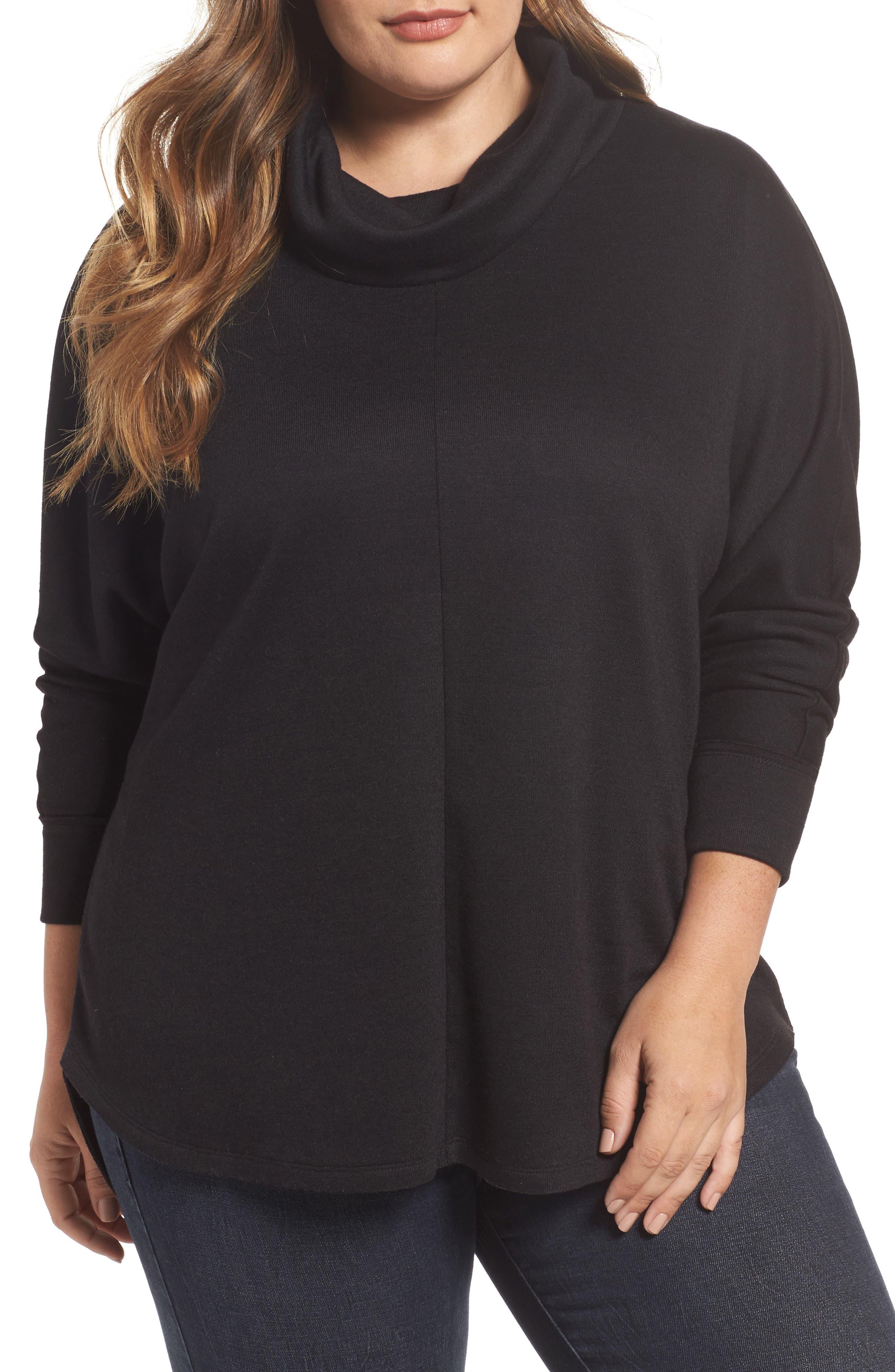 Cowl Neck Pullover,                         Main,                         color, Black