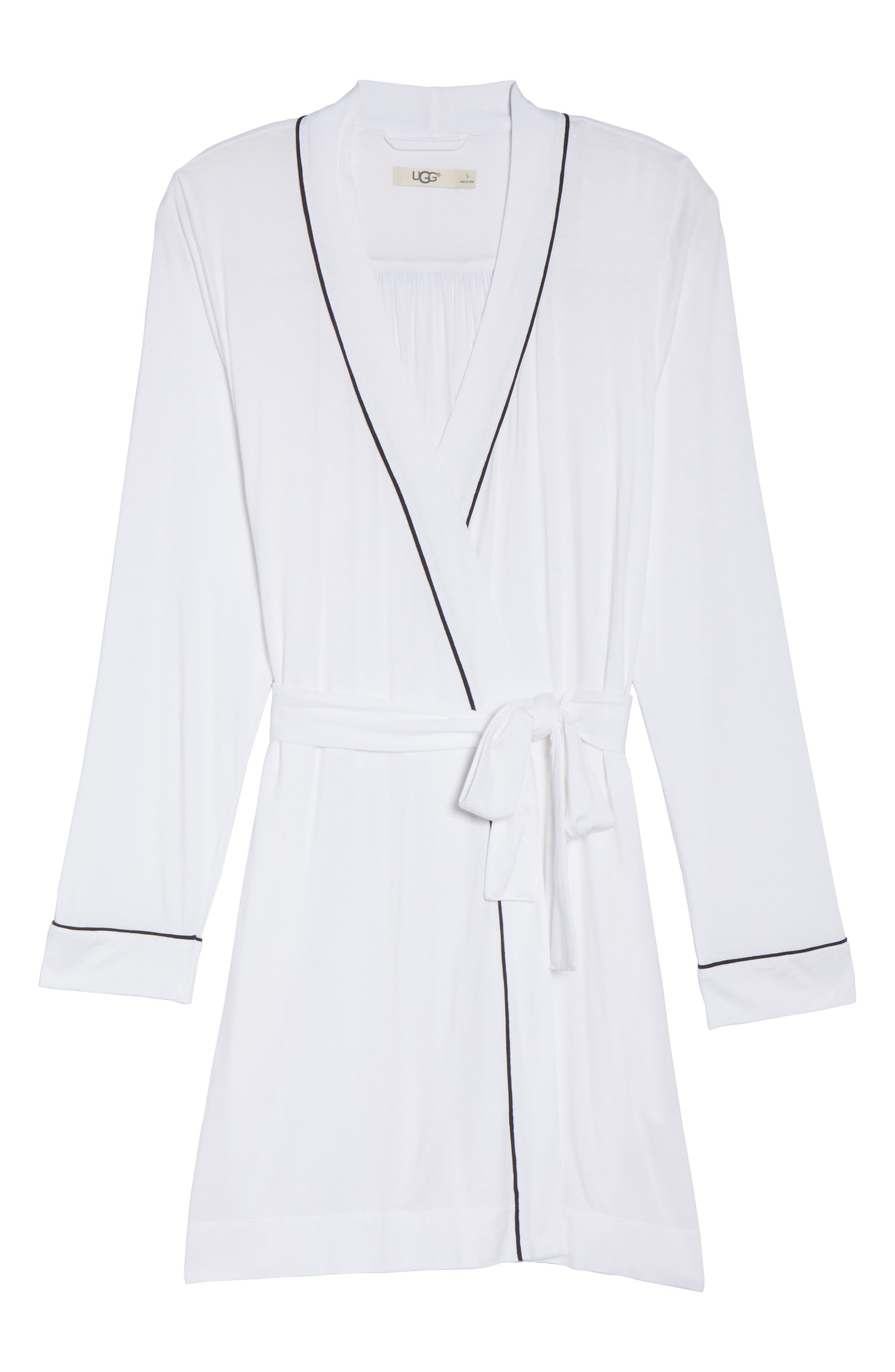 Aldridge Short Robe,                             Alternate thumbnail 4, color,                             Cream