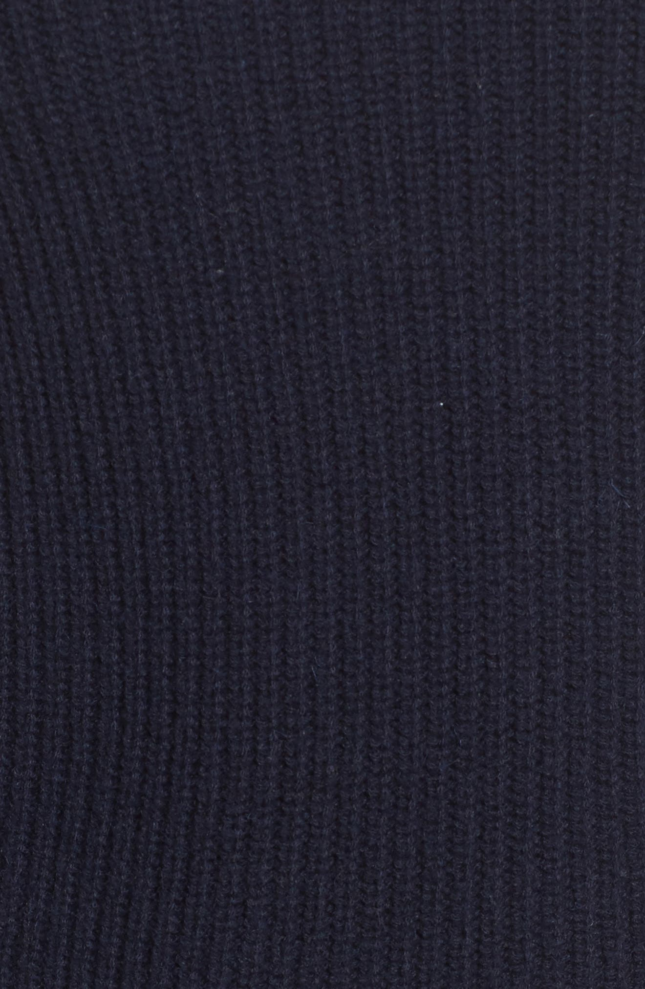 Off the Shoulder Sweater,                             Alternate thumbnail 5, color,                             Navy