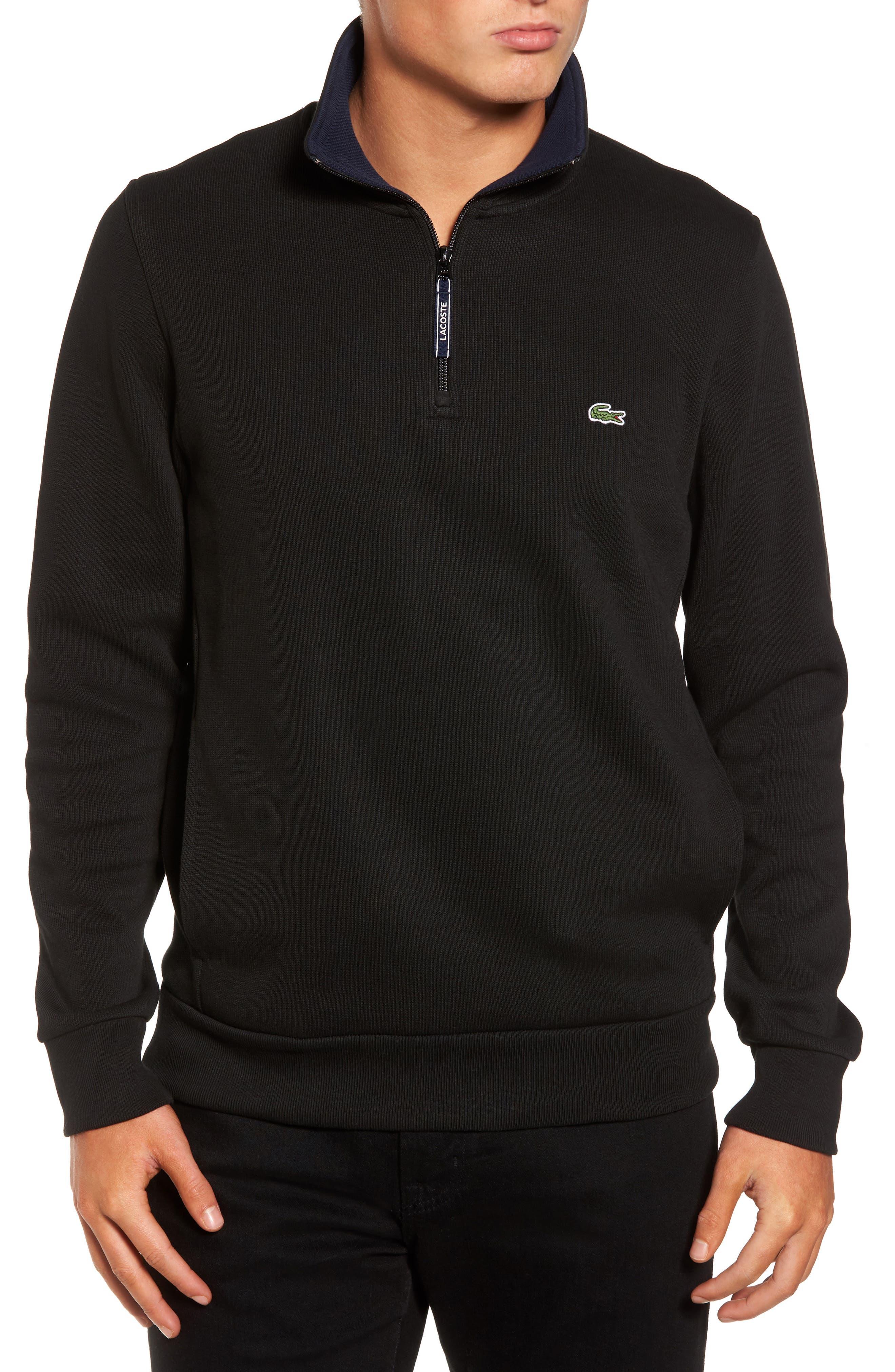 Lacoste Quarter Zip Sweatshirt