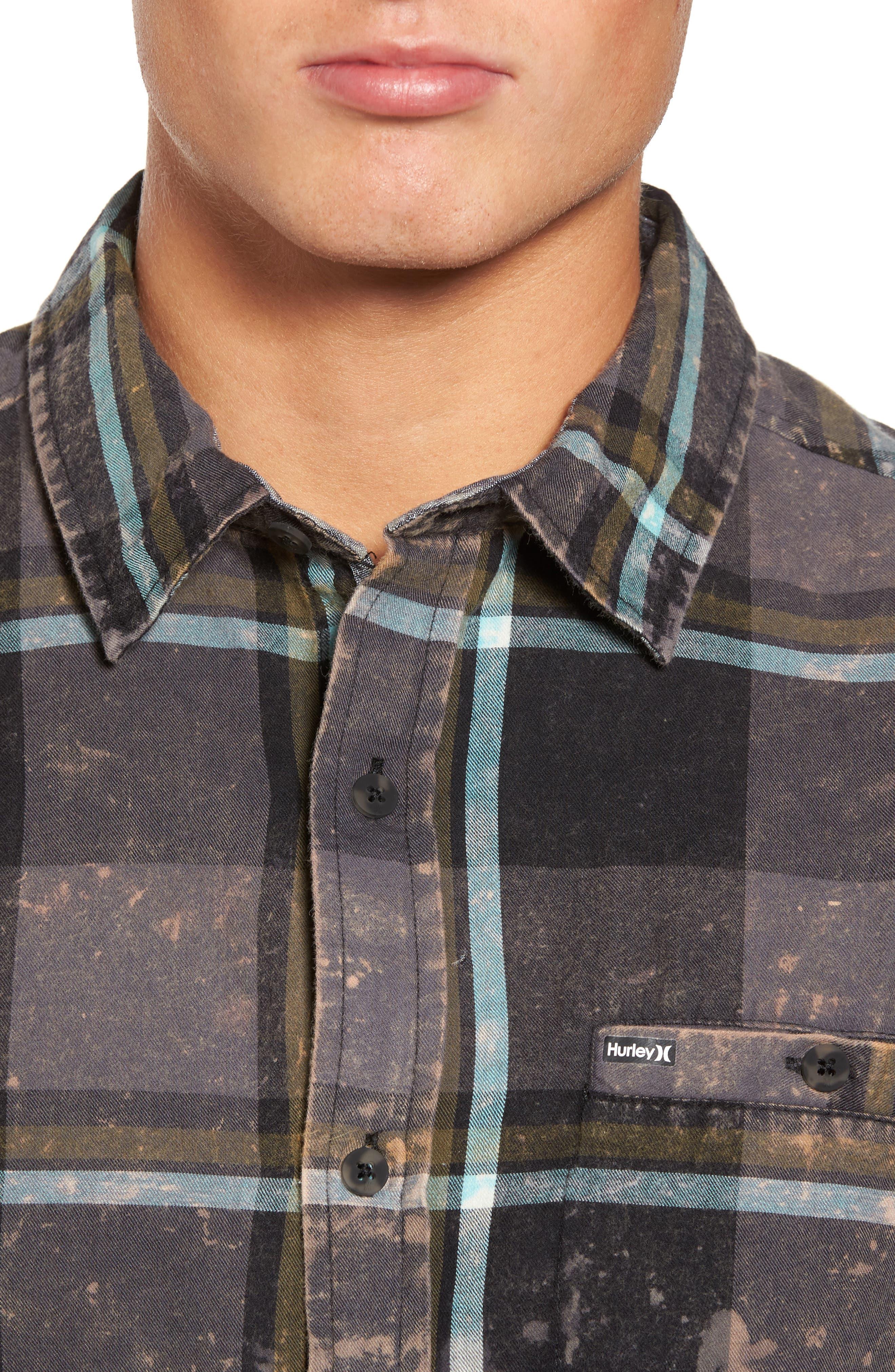 Alternate Image 4  - Hurley Burnside Plaid Shirt