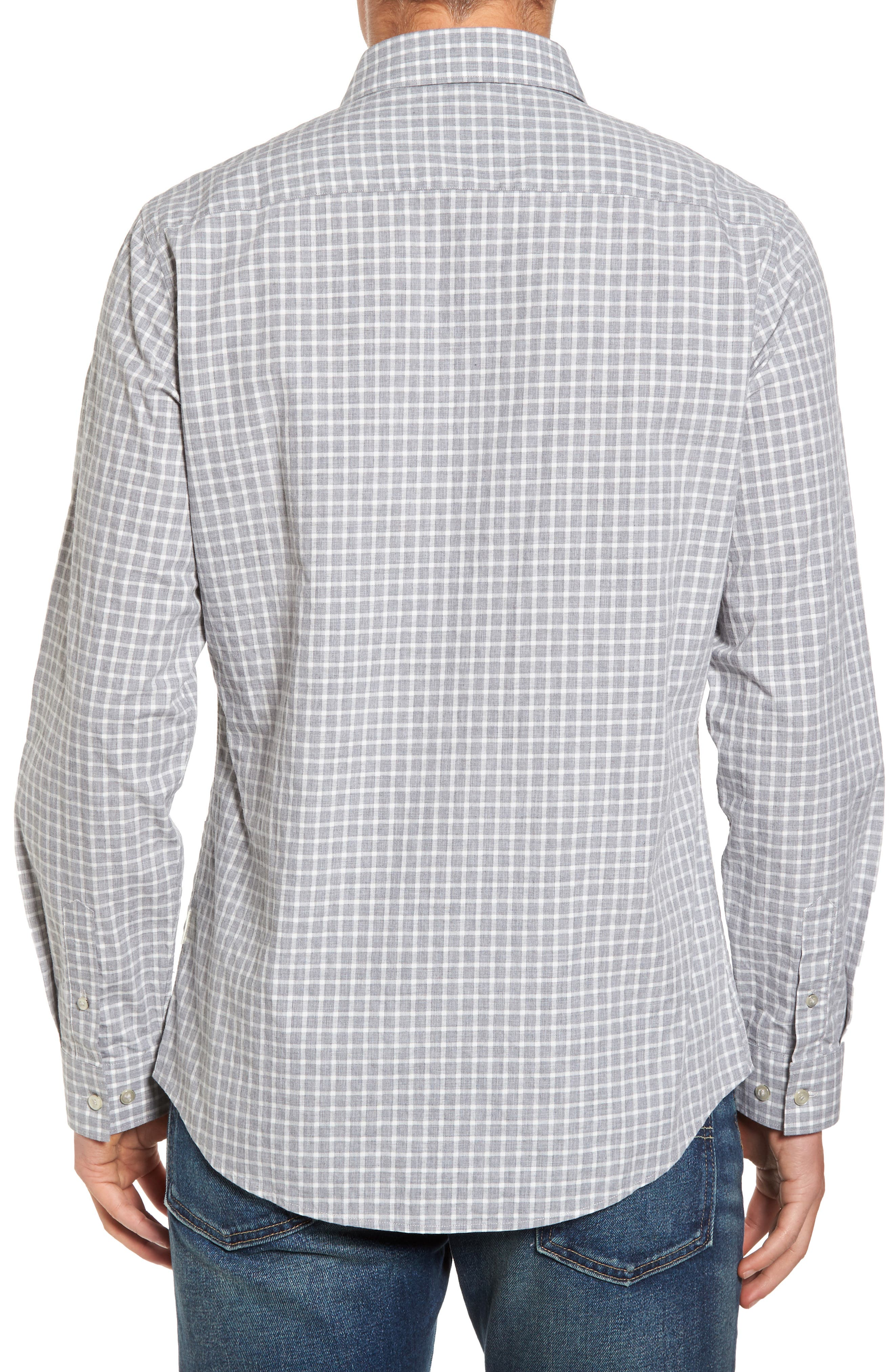 Illusions Woven Shirt,                             Alternate thumbnail 2, color,                             Lt. Grey