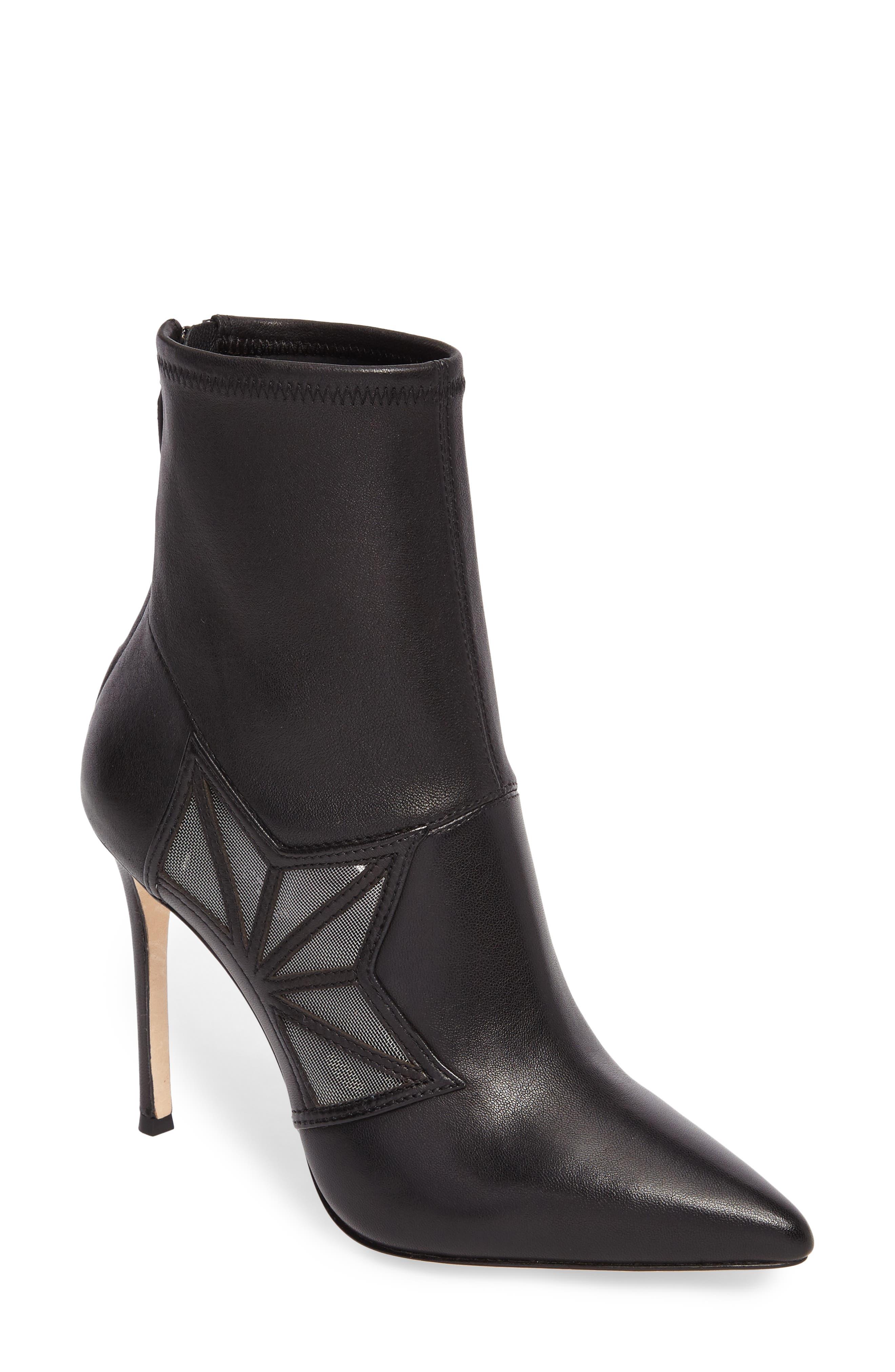 Ceara Bootie,                         Main,                         color, Black Leather