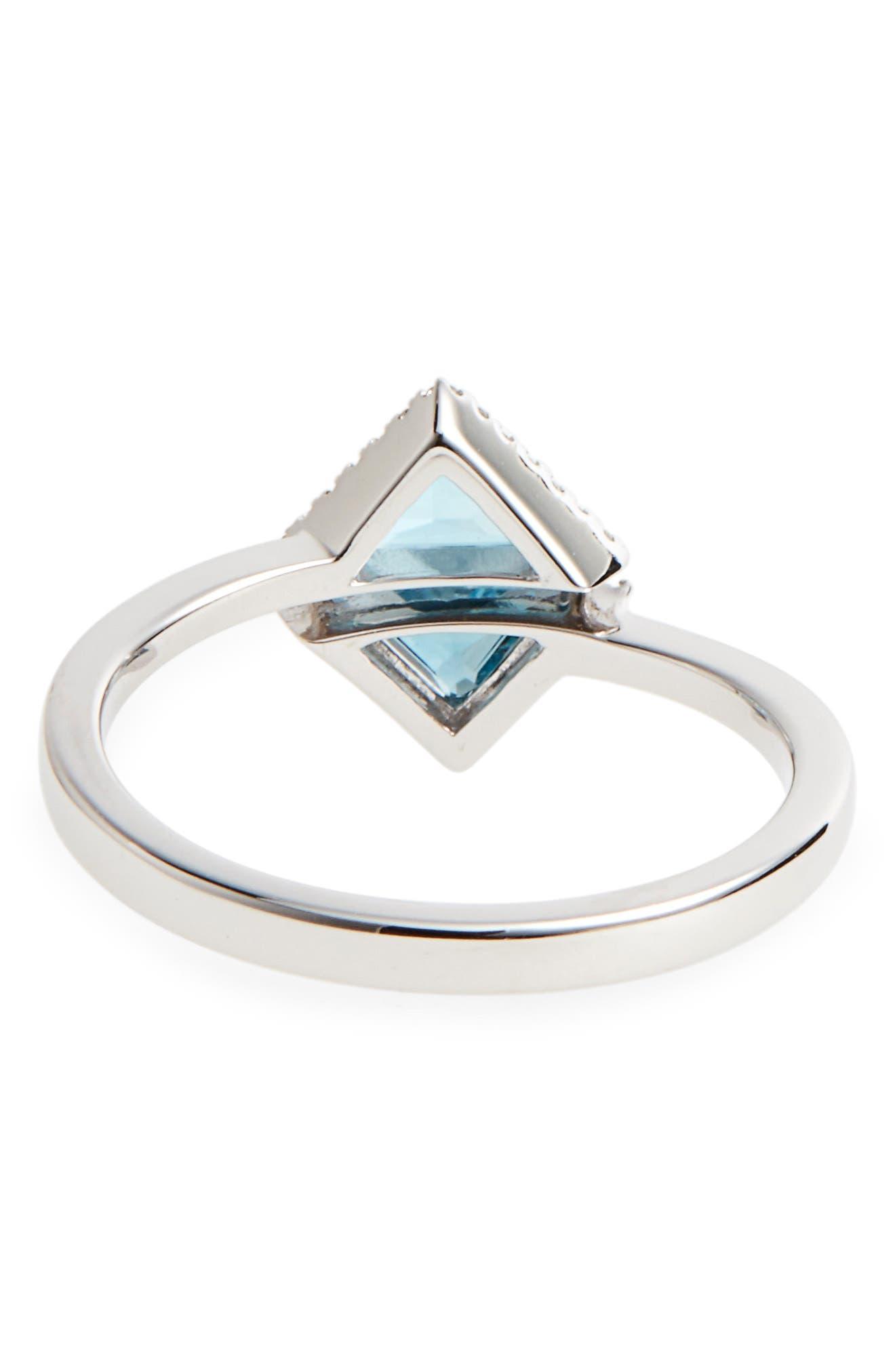 Alternate Image 4  - Bony Levy Iris Double Triangle Diamond & Semiprecious Stone Ring (Nordstrom Exclusive)