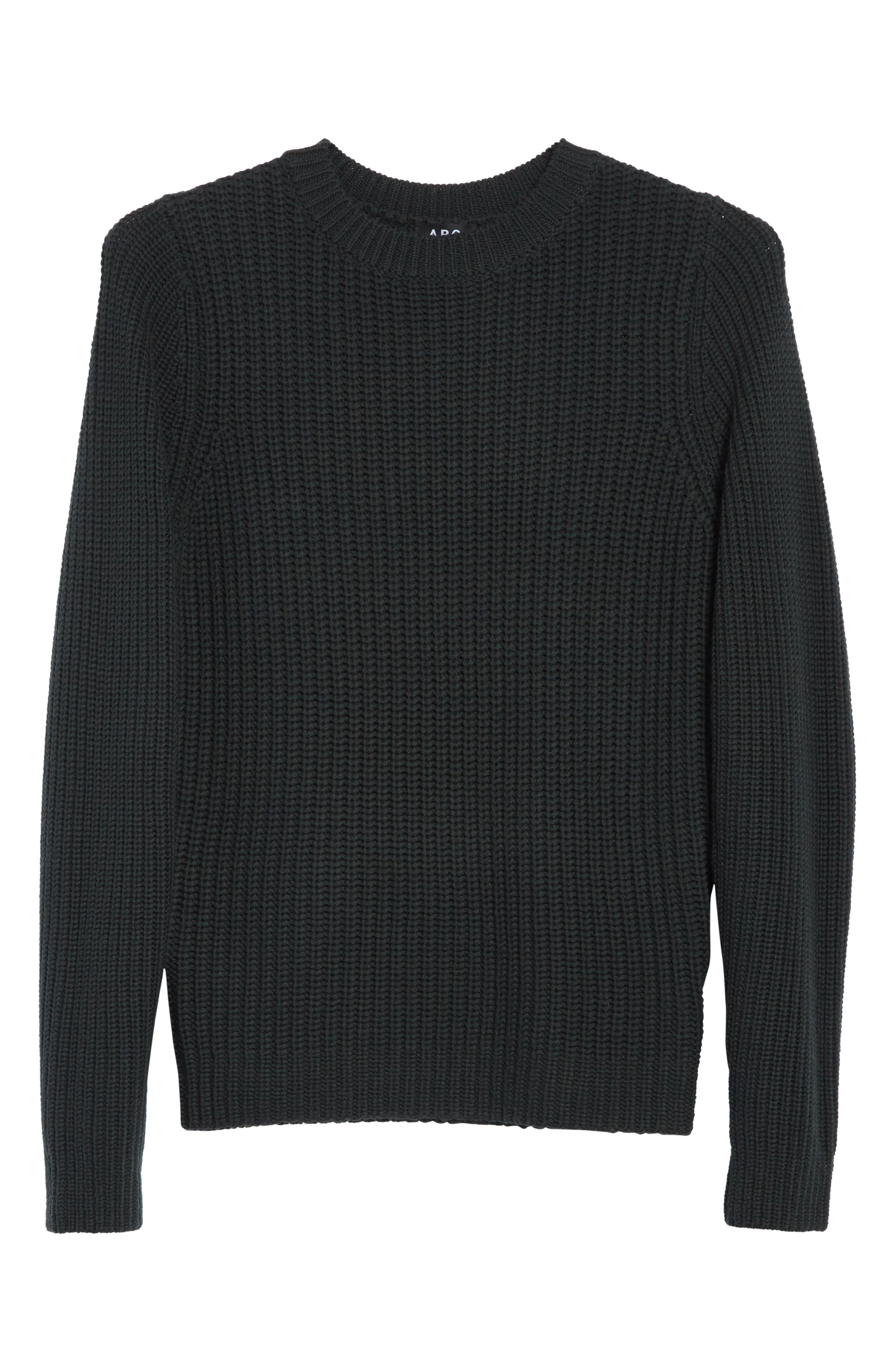 Pull Berger Merino Wool Sweater,                             Alternate thumbnail 5, color,                             Khaki Green