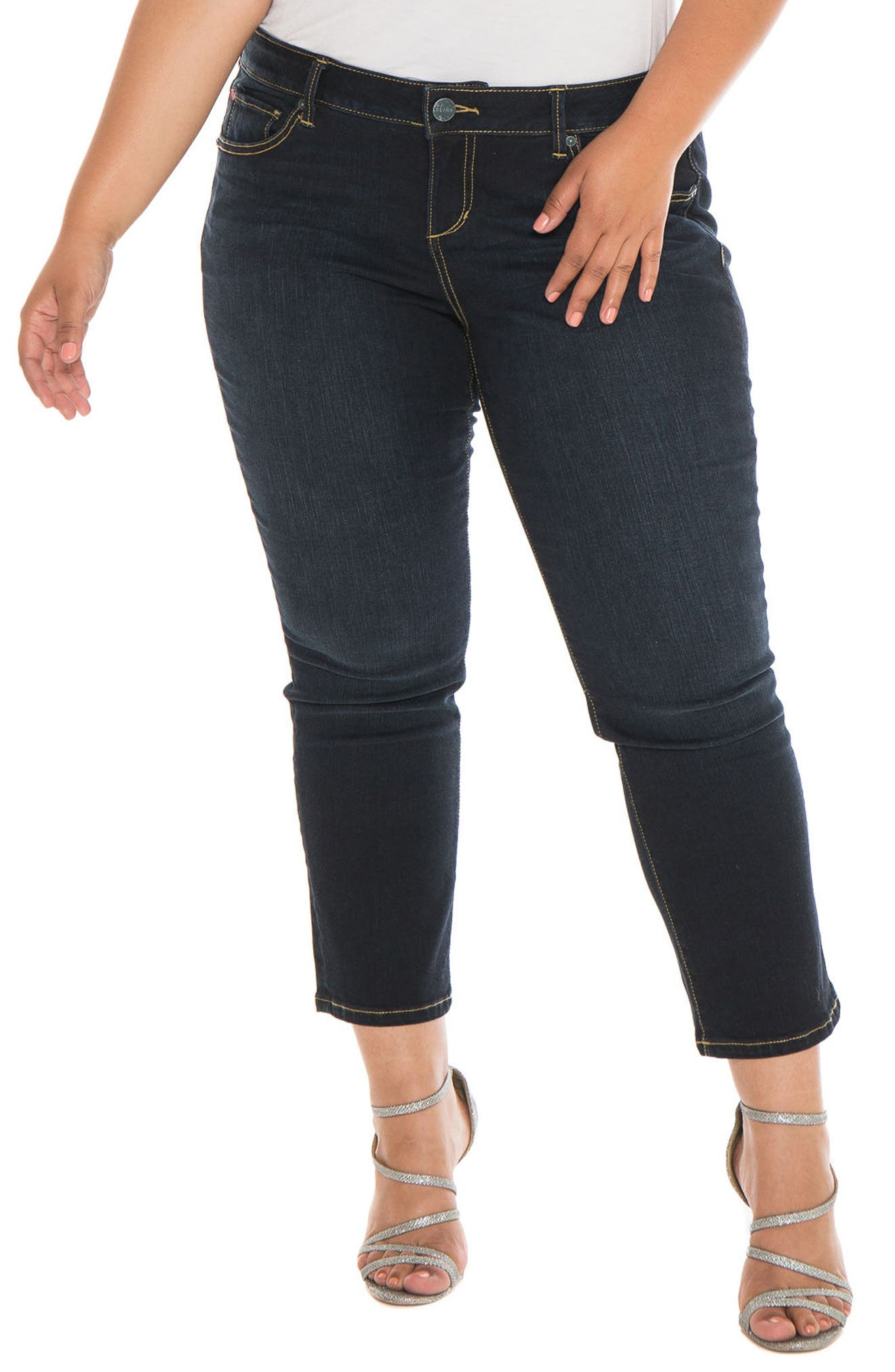 Alternate Image 1 Selected - SLINK Jeans Straight Leg Jeans (Summer) (Plus Size)