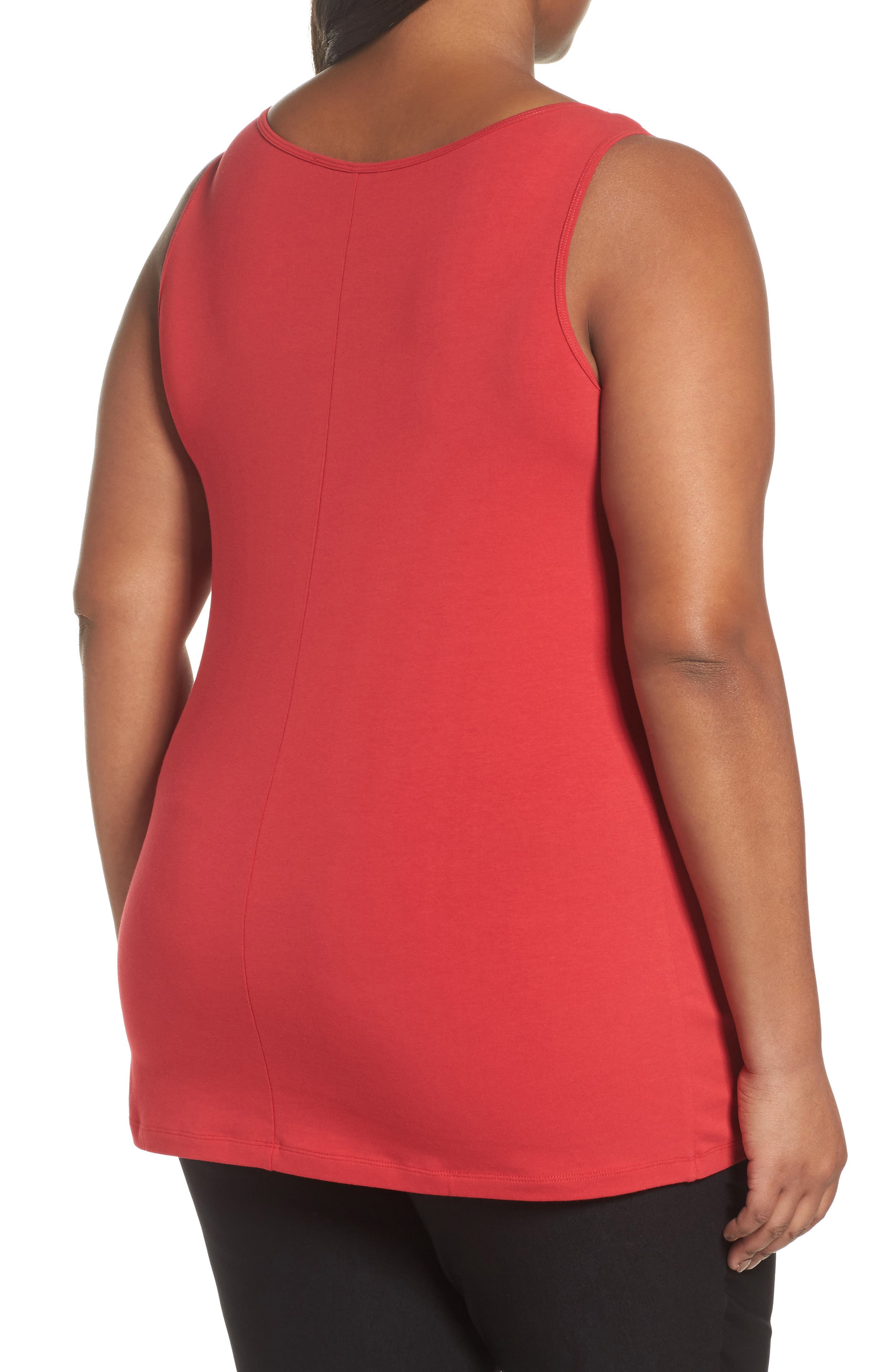 Perfect Scoop Neck Tank,                             Alternate thumbnail 2, color,                             True Red