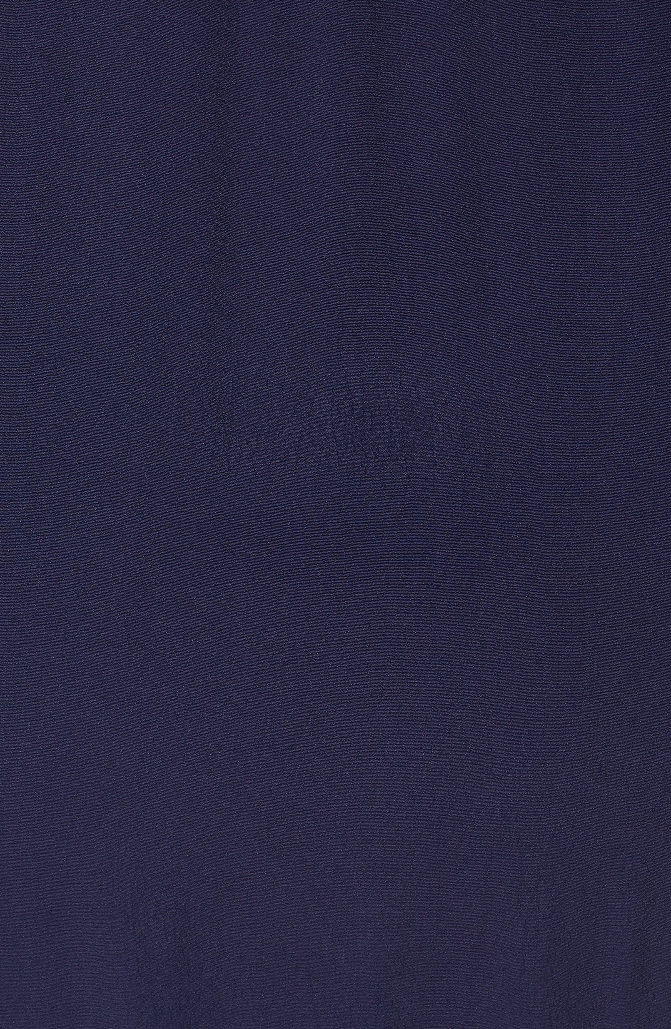 Jolie Lace Accent Cover-Up Dress,                             Alternate thumbnail 5, color,                             Navy