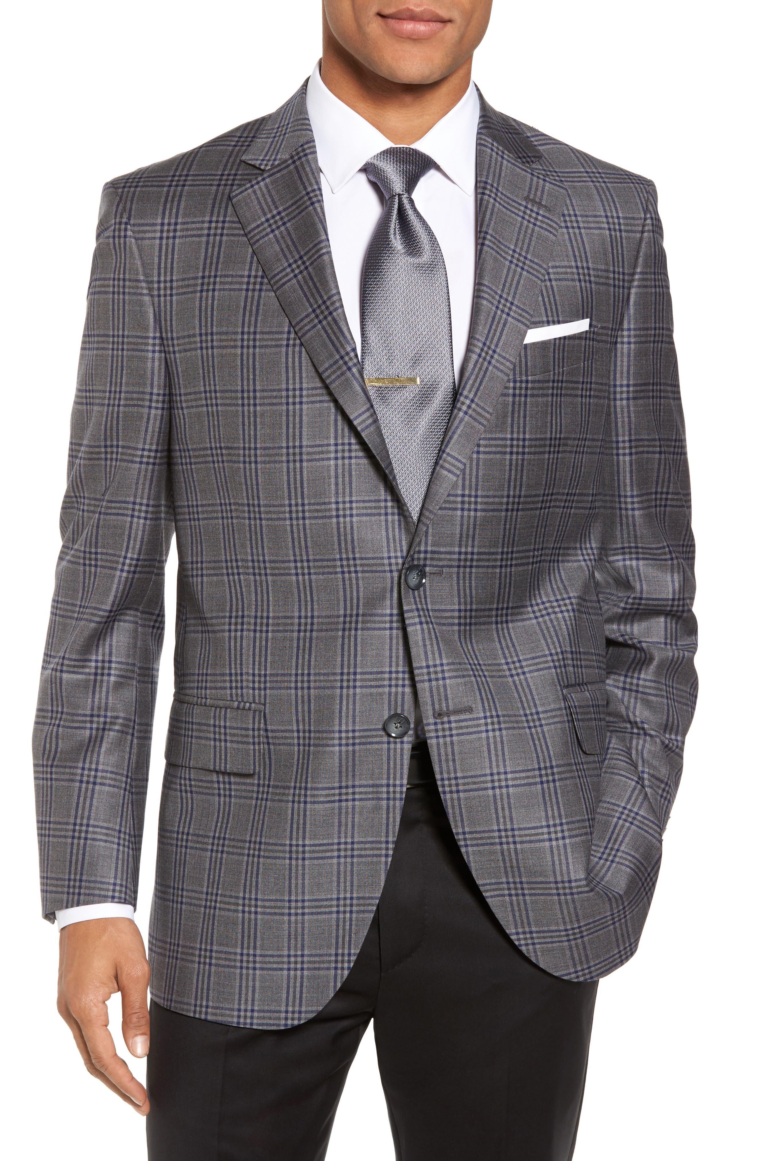 Main Image - Peter Millar Classic Fit Plaid Wool Sport Coat