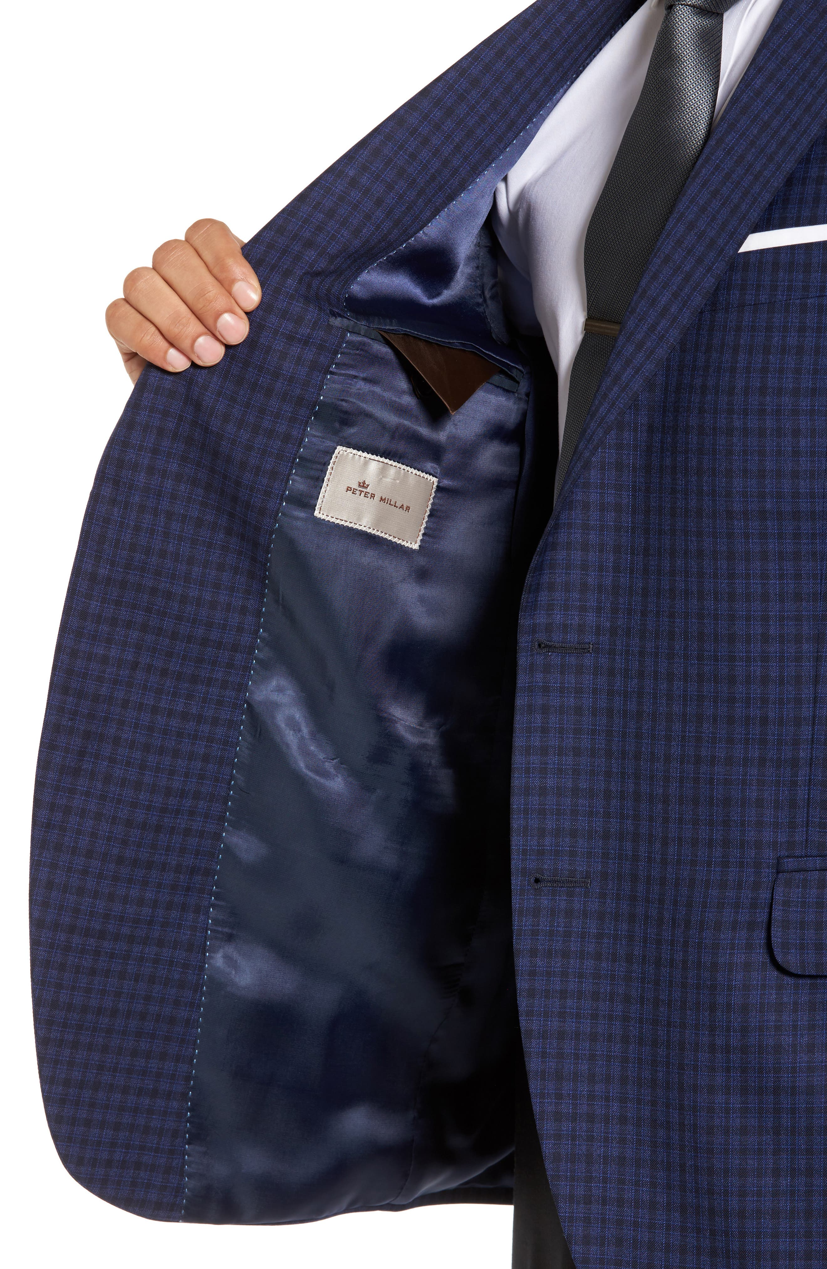Alternate Image 4  - Peter Millar Classic Fit Check Wool Sport Coat