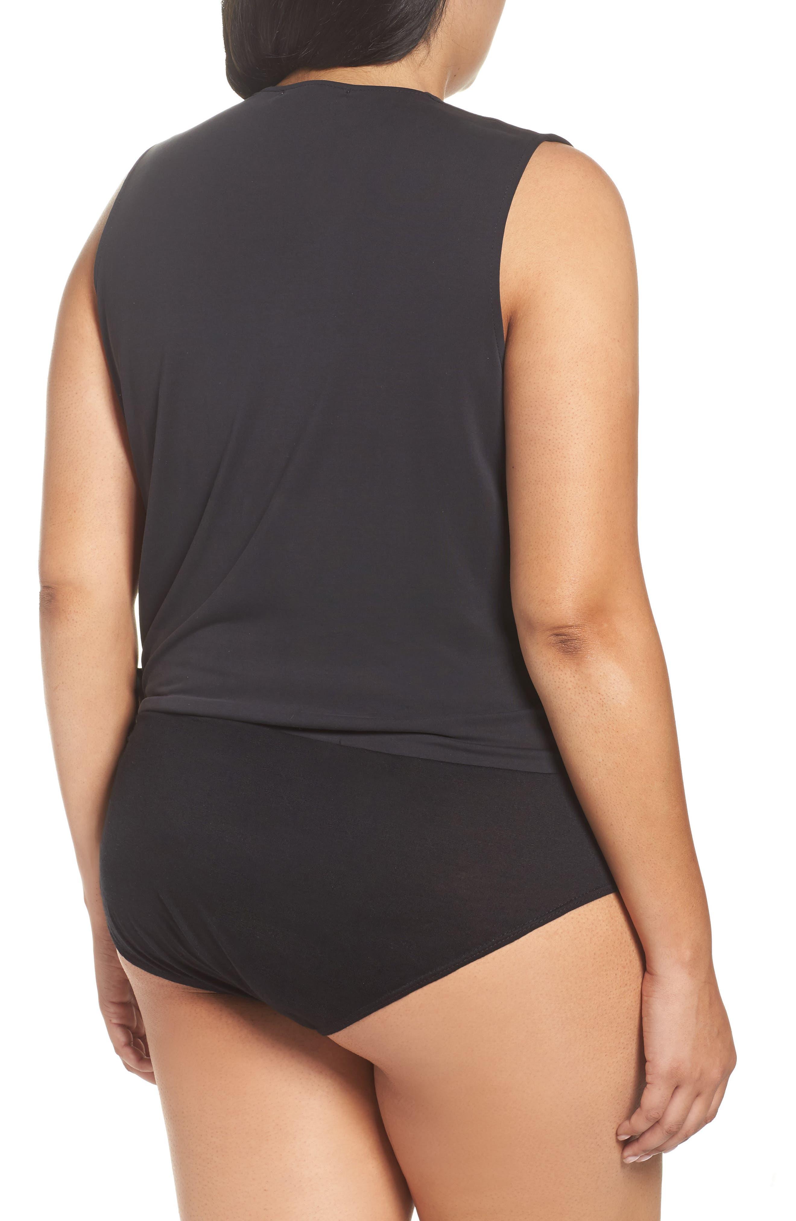 Alternate Image 3  - Sejour Faux Wrap Bodysuit (Plus Size)