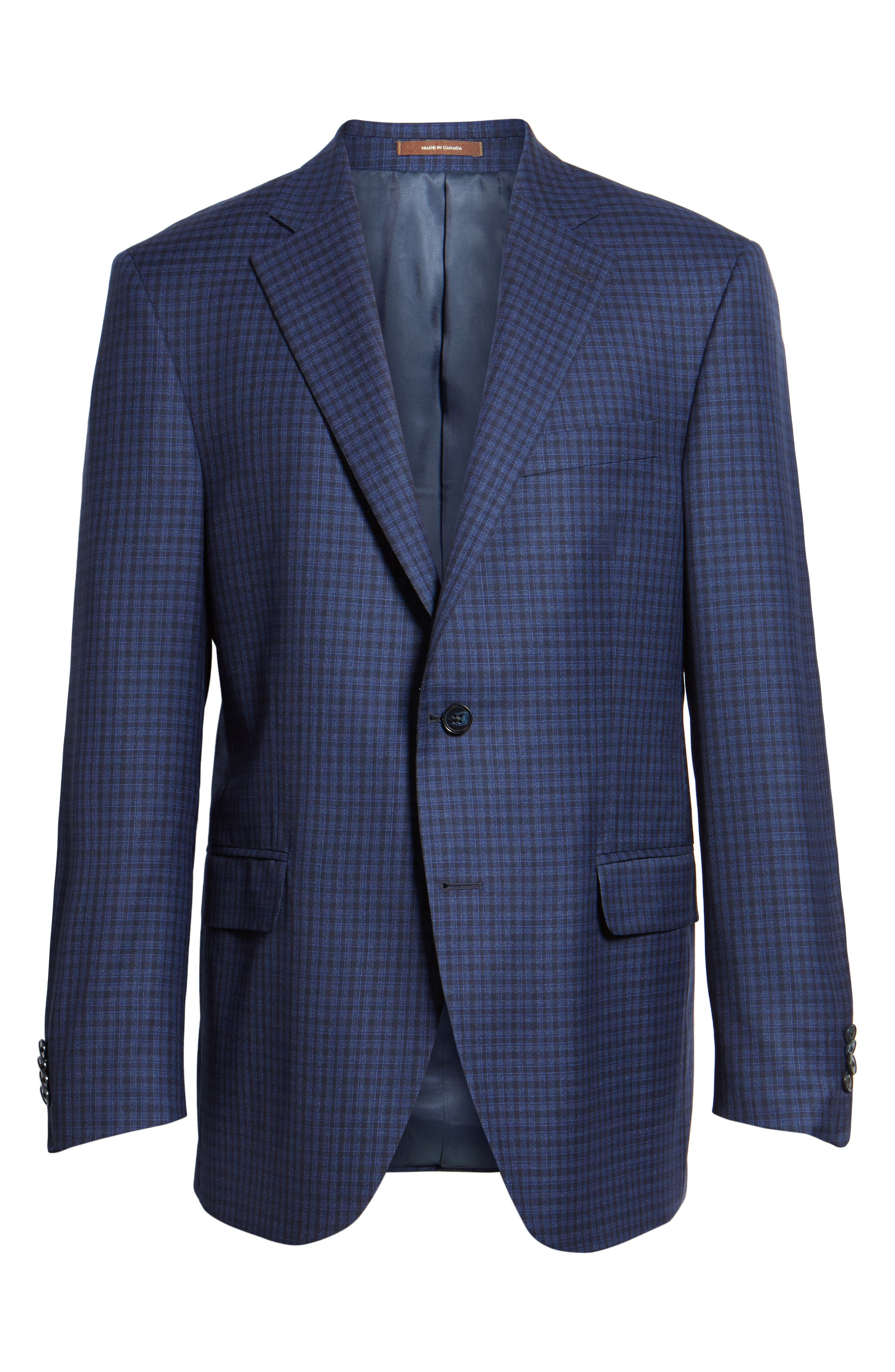 Alternate Image 6  - Peter Millar Classic Fit Check Wool Sport Coat