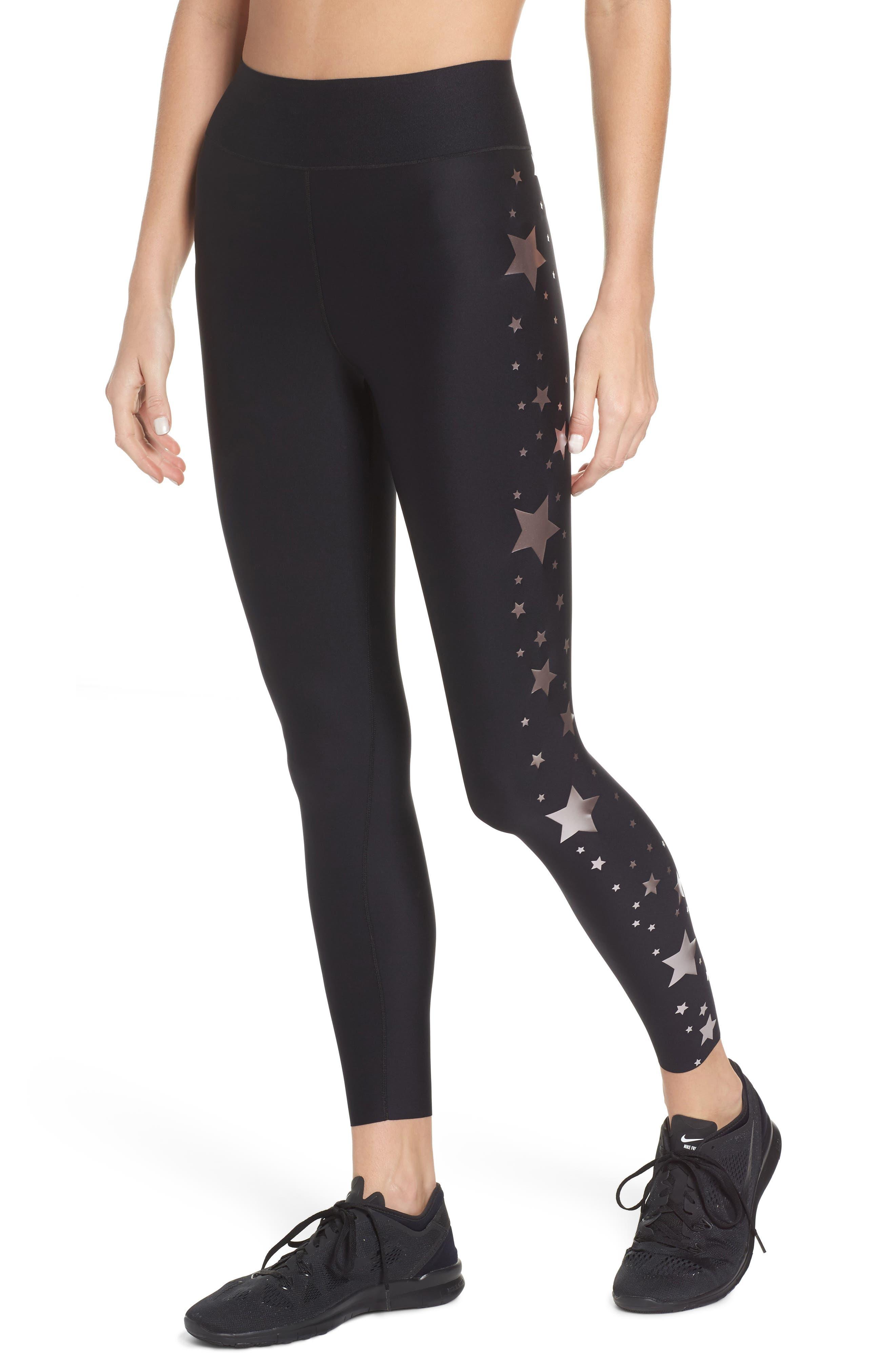 Lux Stellar High Waist Leggings,                         Main,                         color, Nero Rose