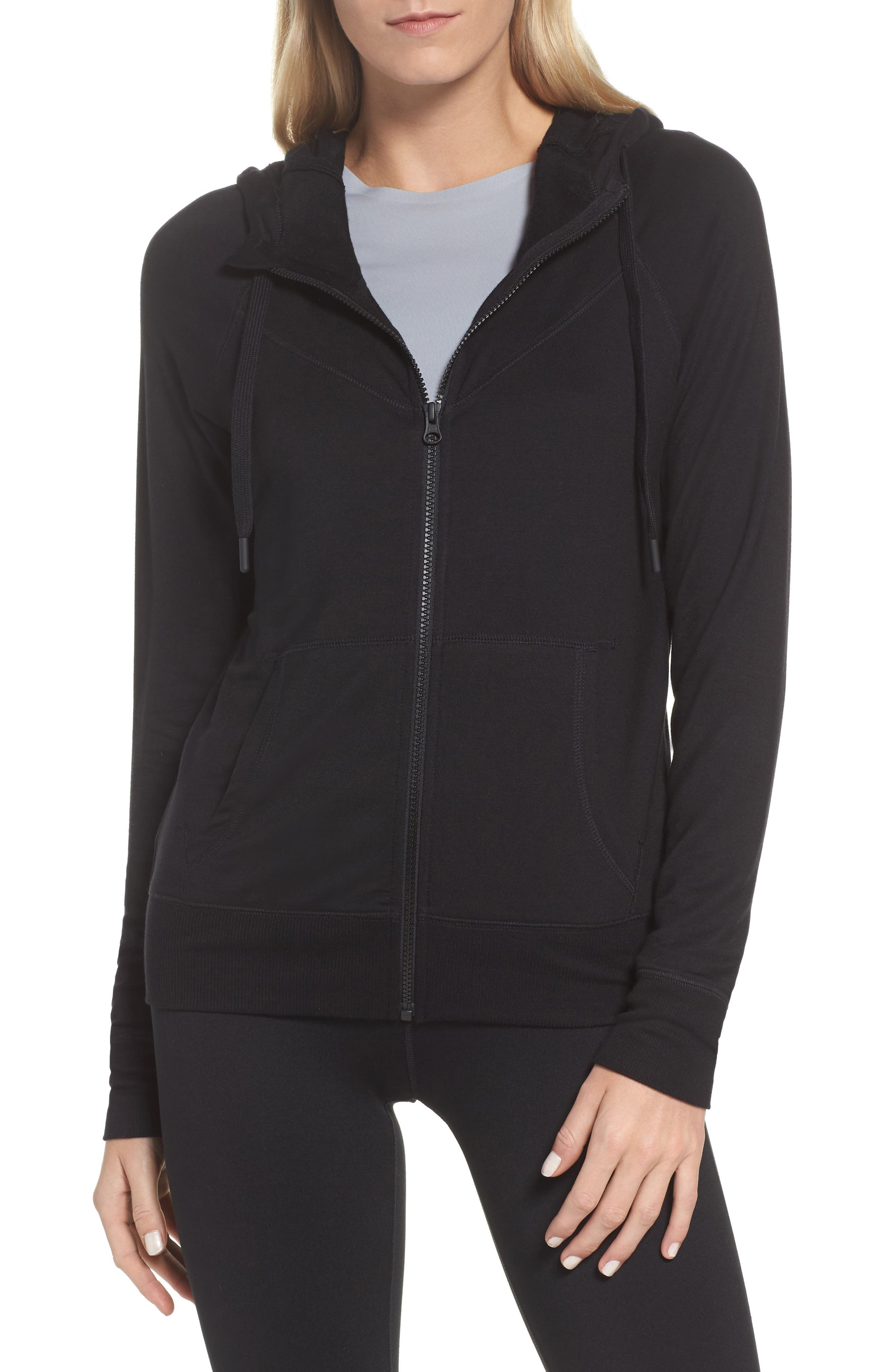 Well Played Zip Hoodie,                             Main thumbnail 1, color,                             Black
