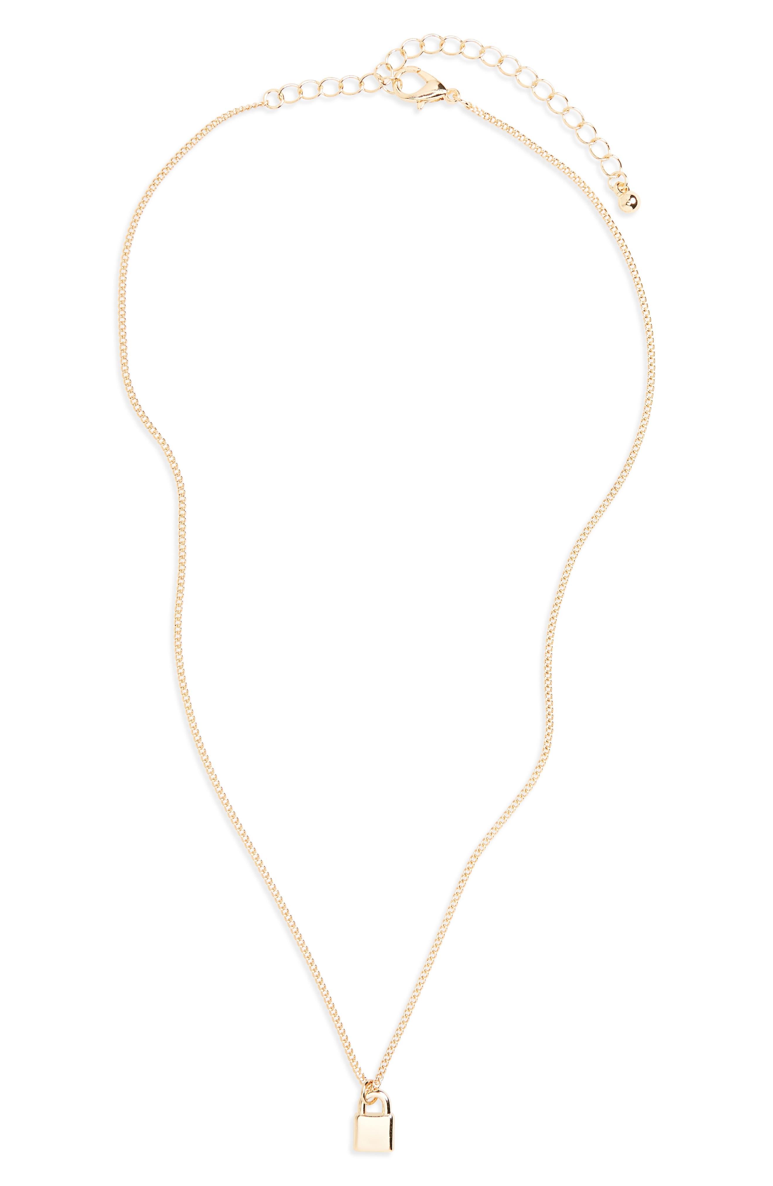 BP. Dainty Lock Charm Necklace