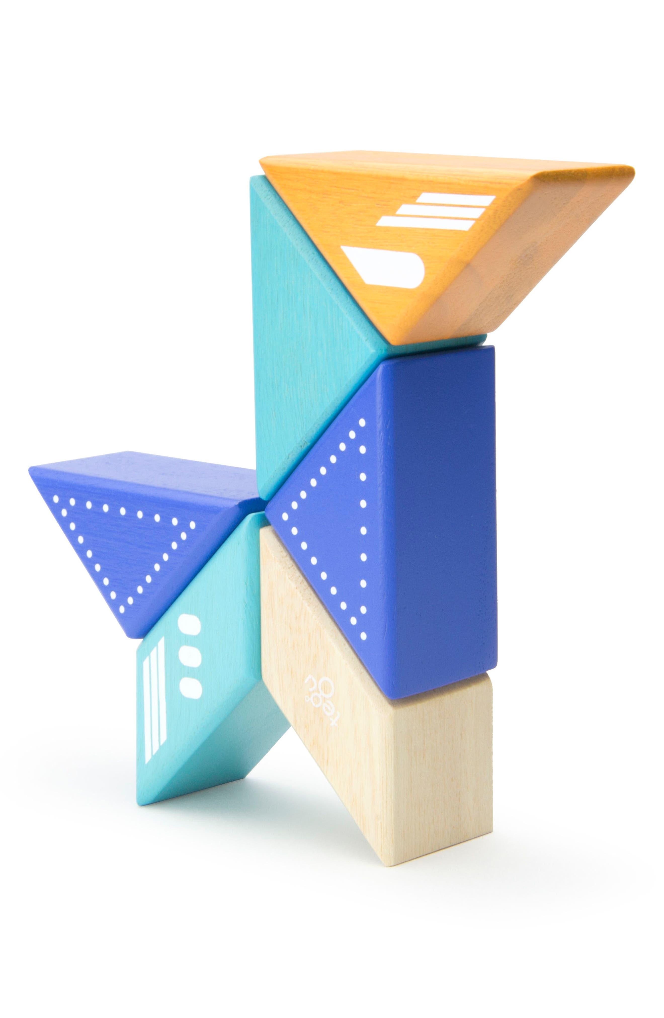 Travel Pals 6-Piece Jet Magnetic Block Set,                             Alternate thumbnail 9, color,                             Blue