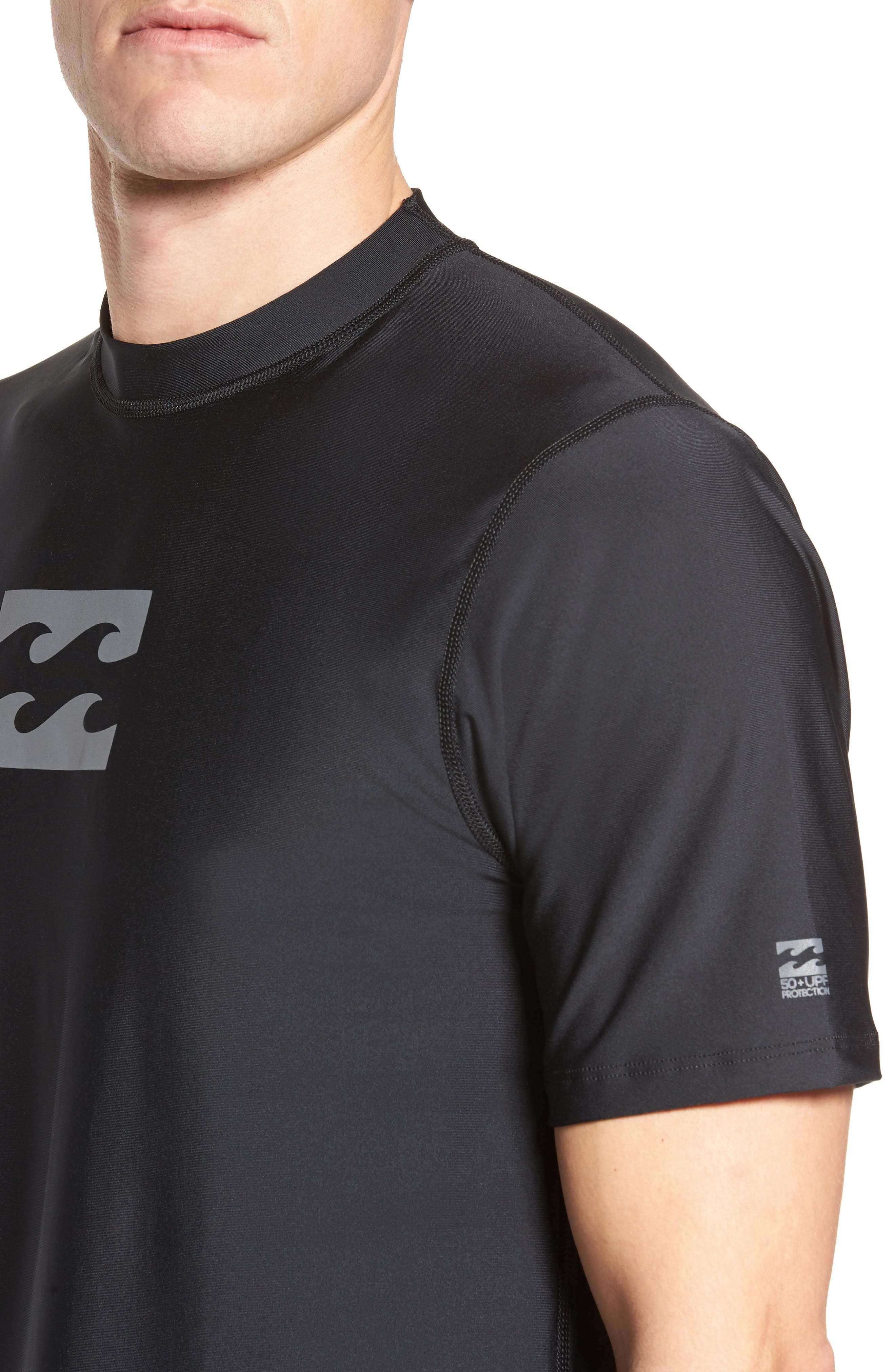 All Day Wave Wet Shirt,                             Alternate thumbnail 4, color,                             Black