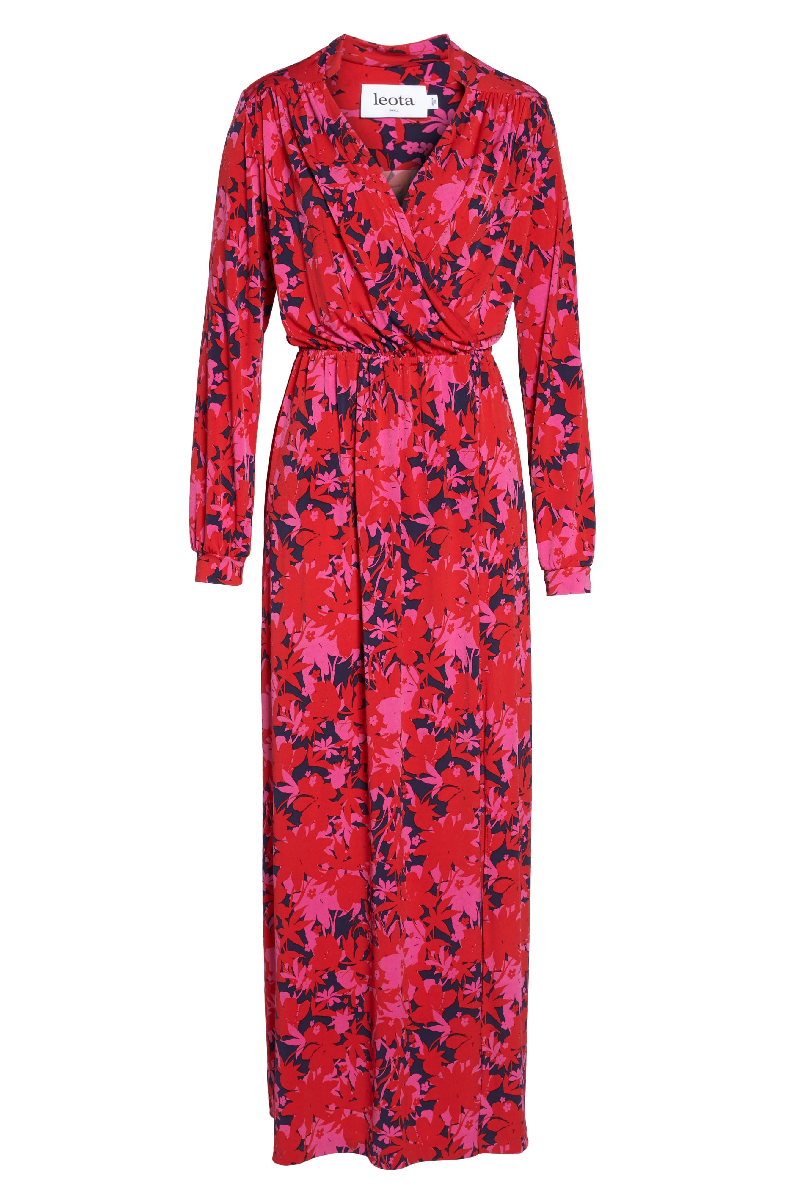 Bridget Faux Wrap Maxi Dress,                             Alternate thumbnail 6, color,                             Porte
