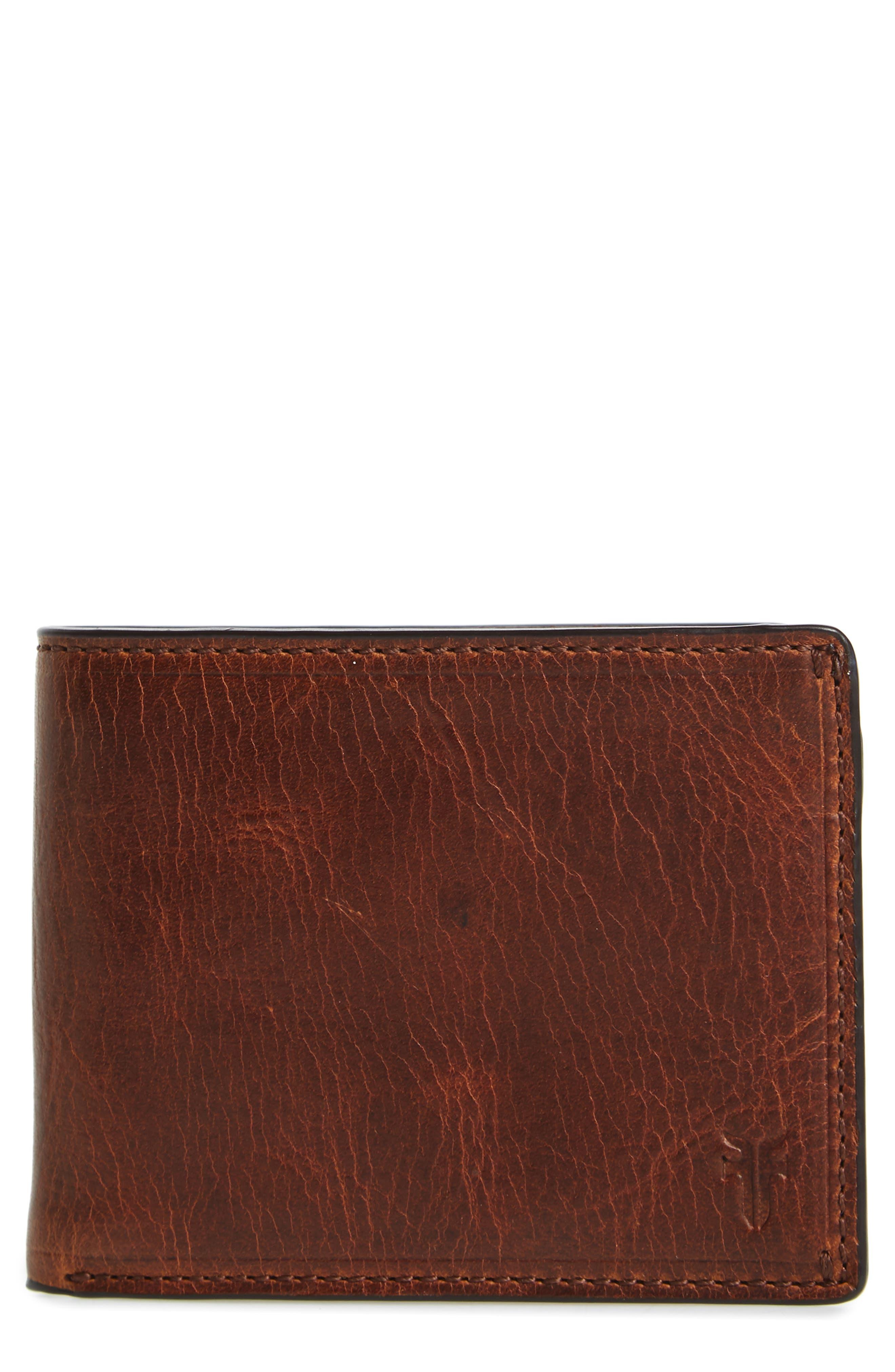 Logan Leather Wallet,                             Main thumbnail 1, color,                             Cognac