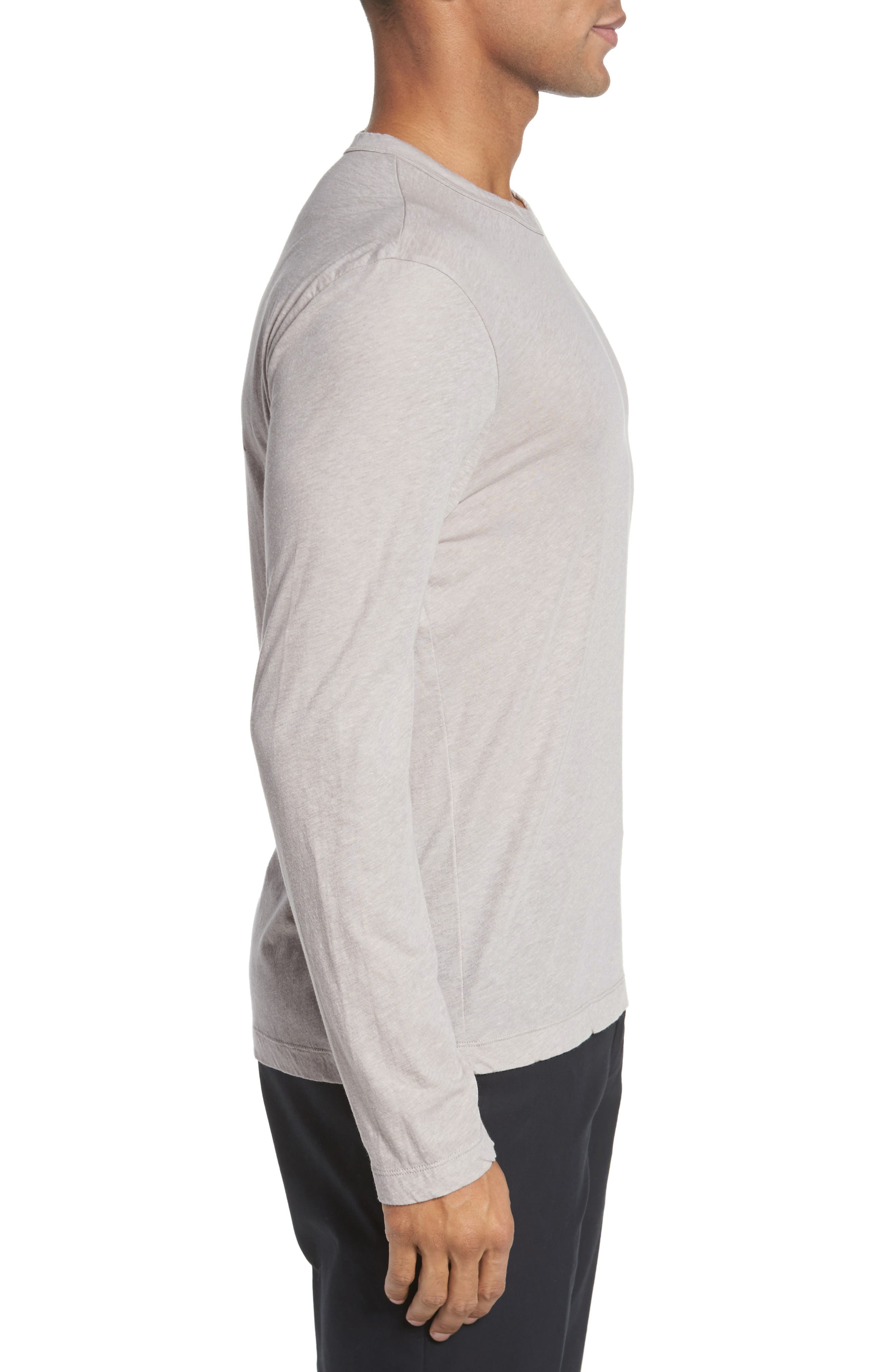Mélange Long Sleeve Graphic T-Shirt,                             Alternate thumbnail 3, color,                             Fossil Melange