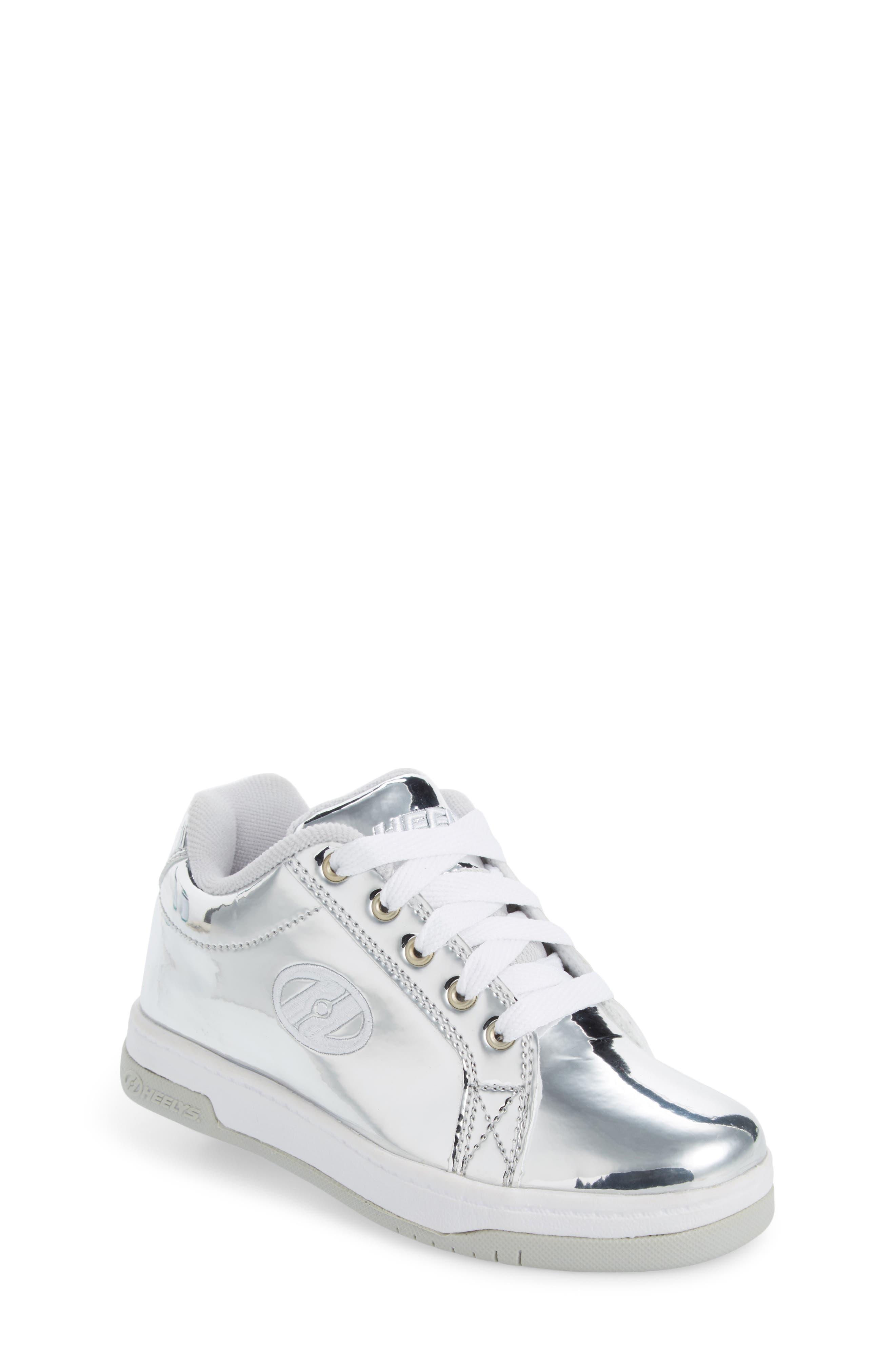 Split Skate Sneaker,                             Main thumbnail 1, color,                             Silver