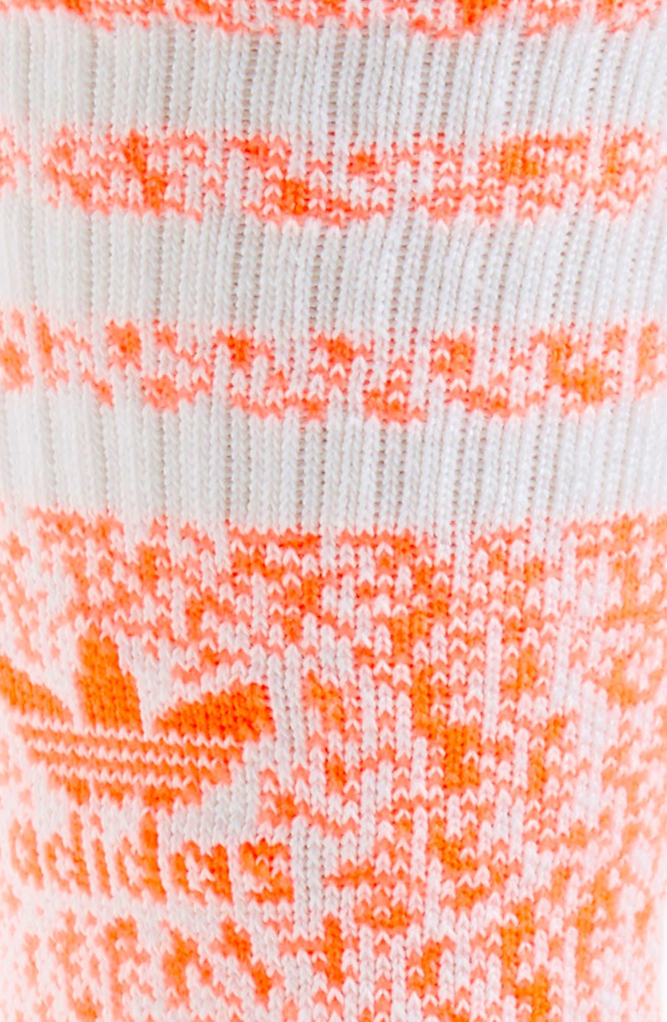 Roller Crew Socks,                             Alternate thumbnail 2, color,                             White/ Turbo Red