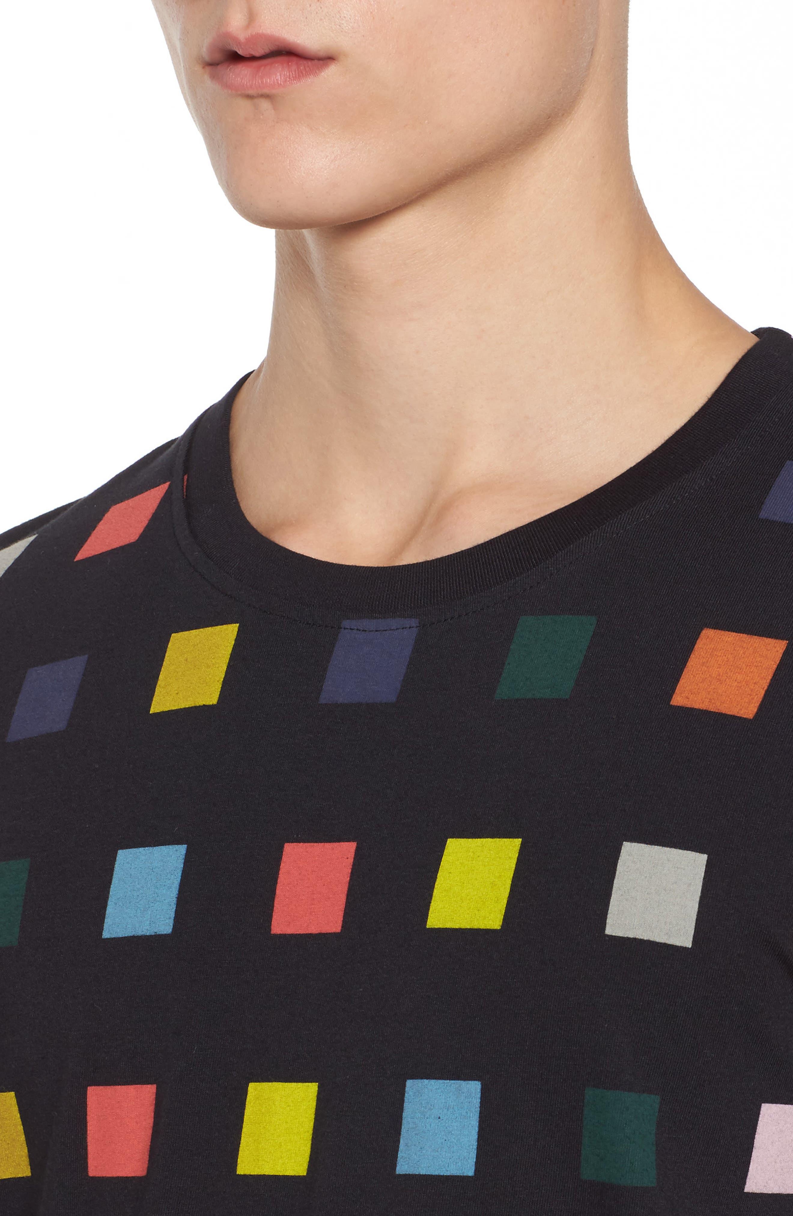 Squares T-Shirt,                             Alternate thumbnail 4, color,                             Black