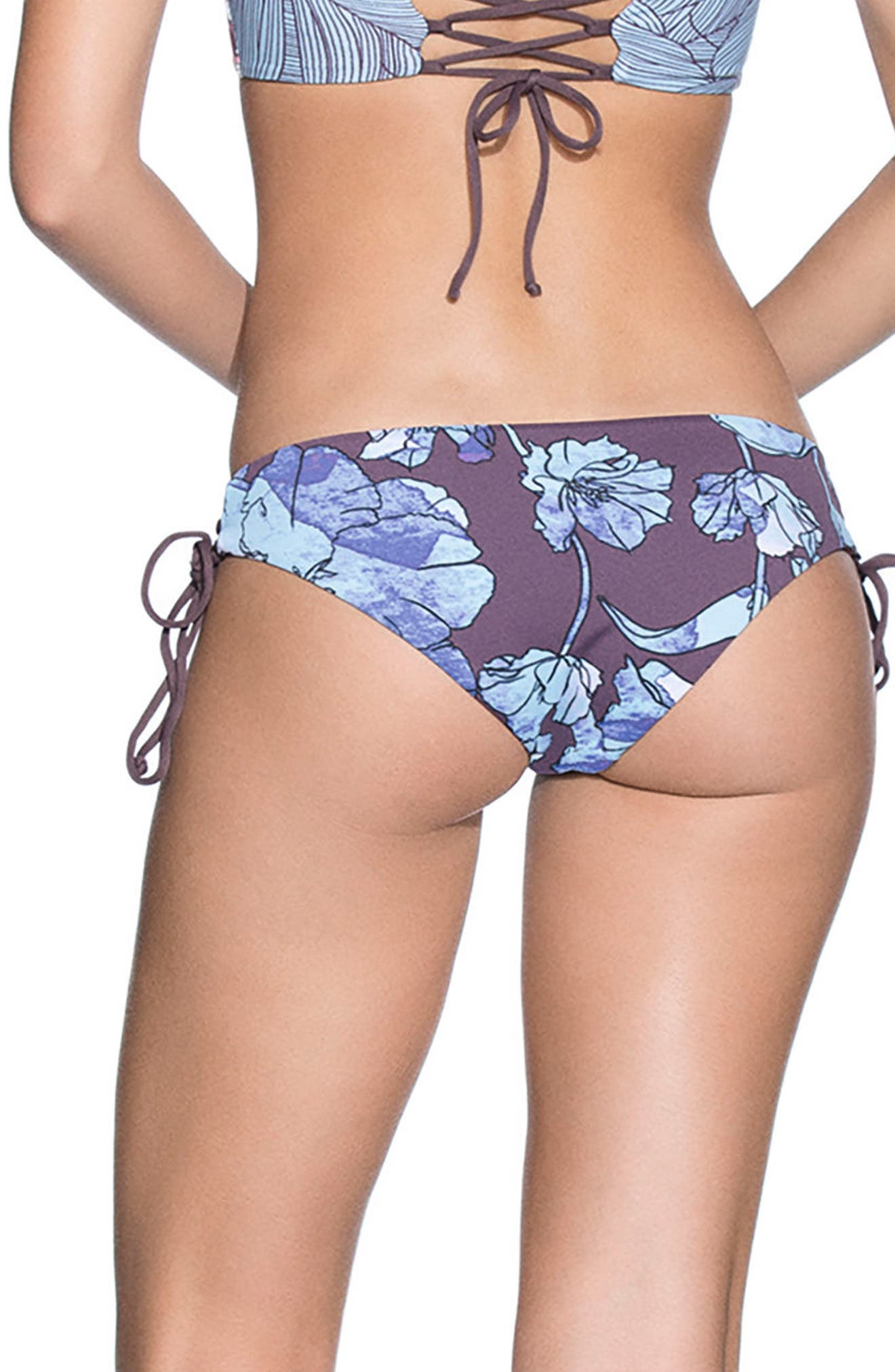 Providence Island Signature Rervsible Bikini Bottoms,                             Alternate thumbnail 2, color,                             Light Blue Multi