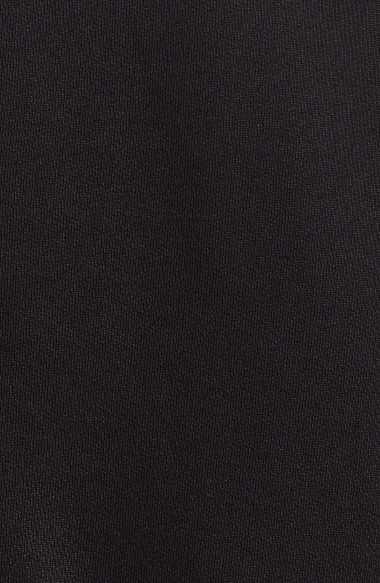 Meace Fleece Sweatshirt,                             Alternate thumbnail 5, color,                             Black