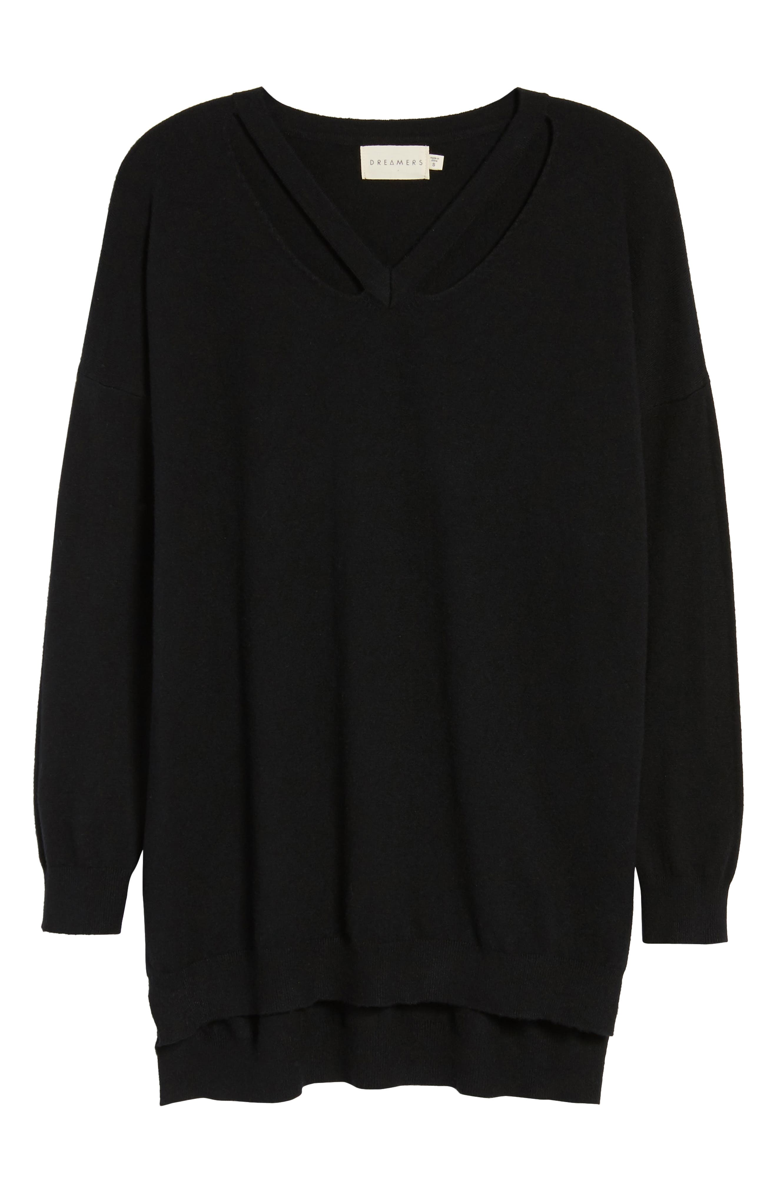 Alternate Image 6  - Dreamers by Debut Cutout Detail Sweater