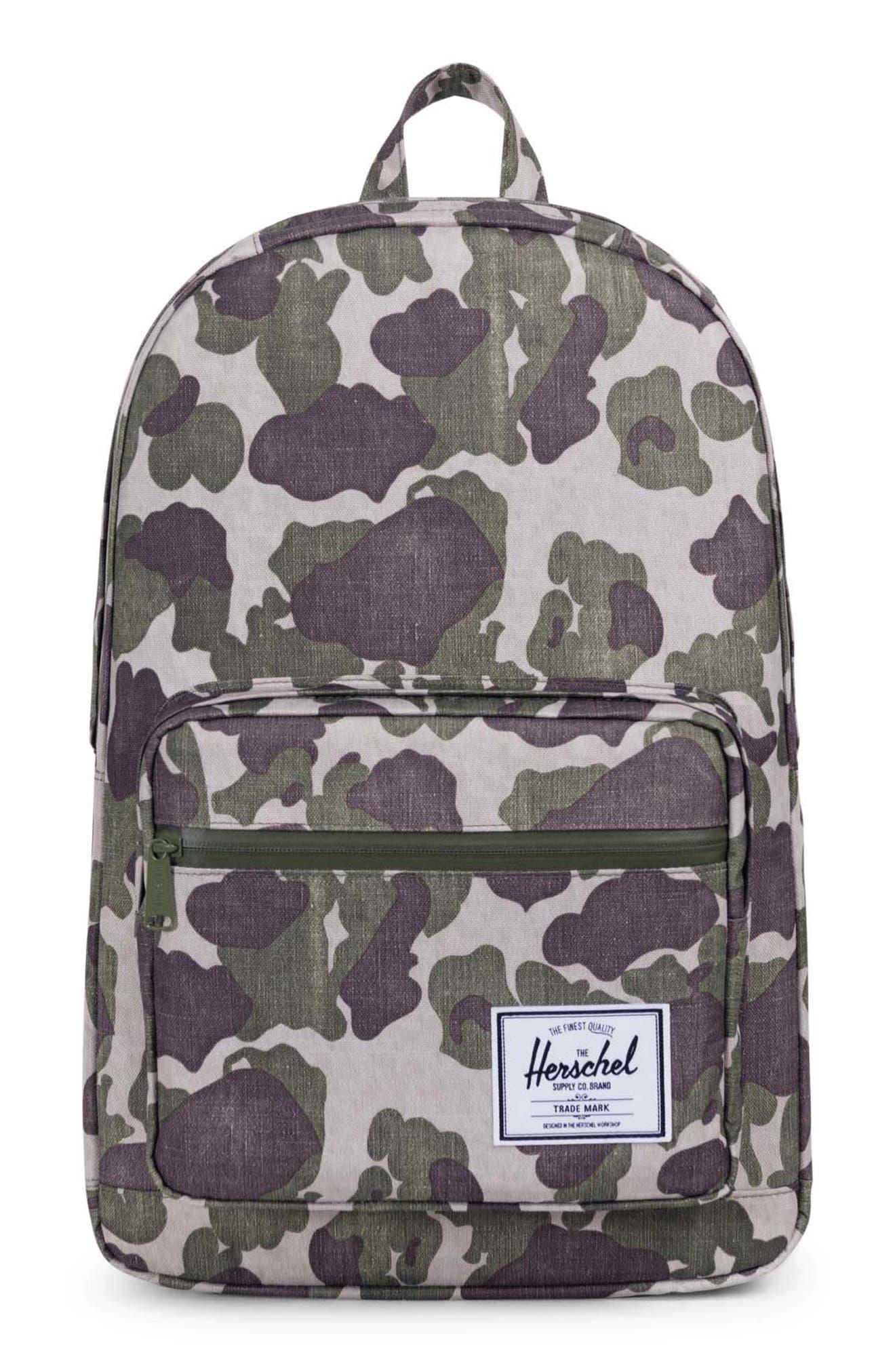 Pop Quiz Backpack,                         Main,                         color, Frog Camo