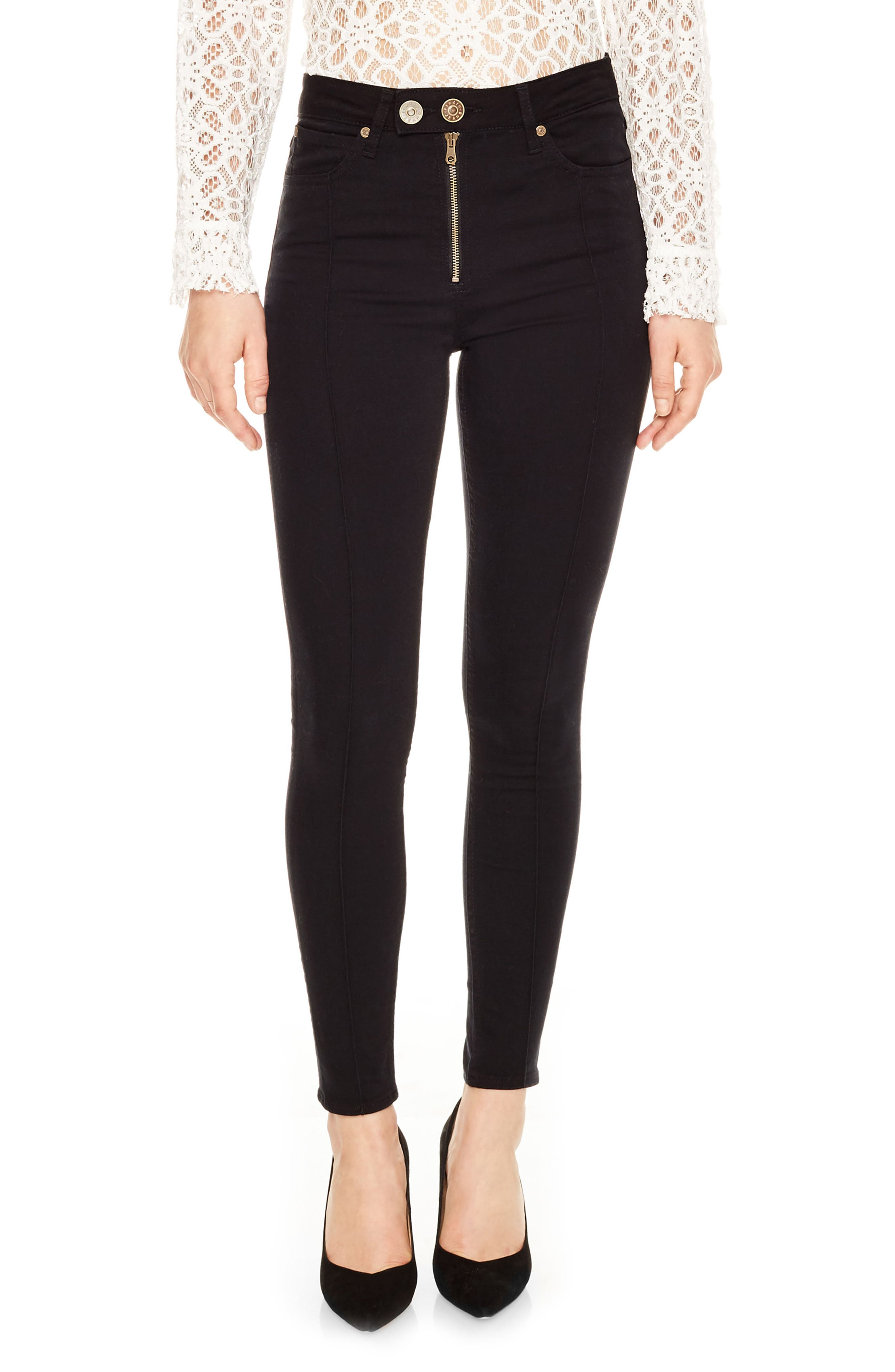 sandro Stitched Skinny Jeans