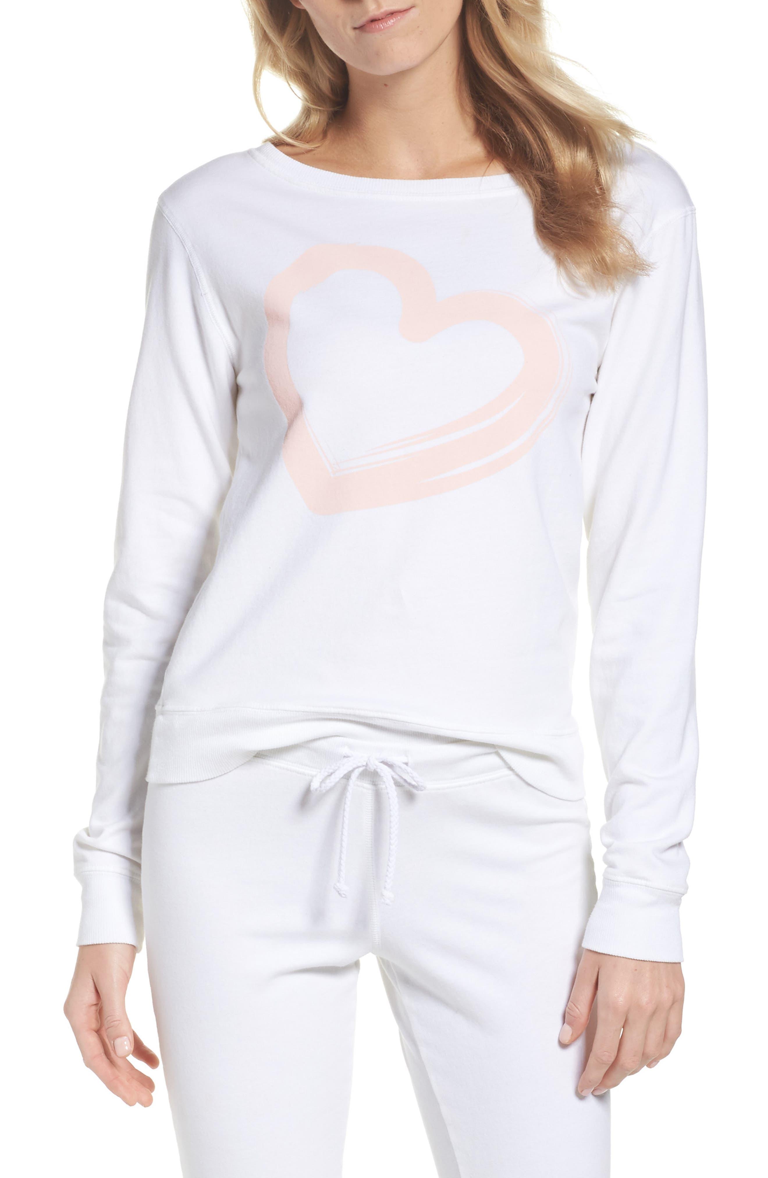 Alternate Image 1 Selected - LOVE+GRACE Lordes Fuzzy Fleece Sweatshirt