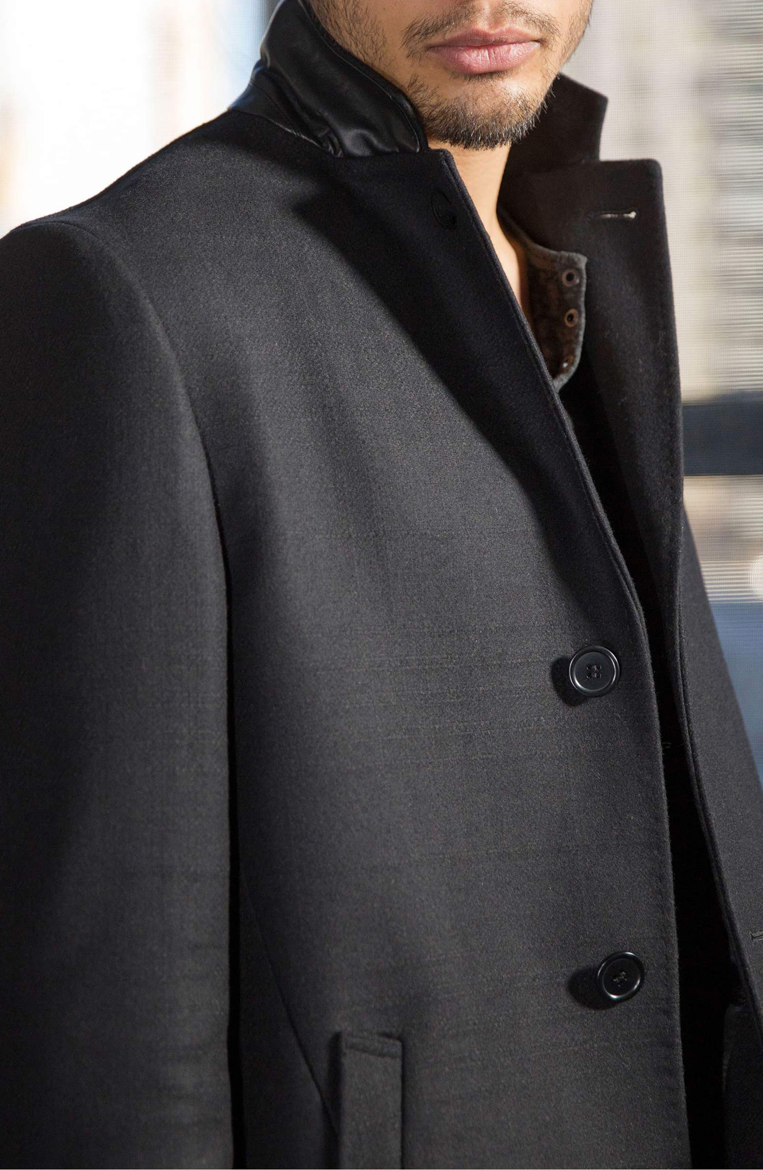 Walsh Wool Blend Topcoat,                             Alternate thumbnail 7, color,                             Black